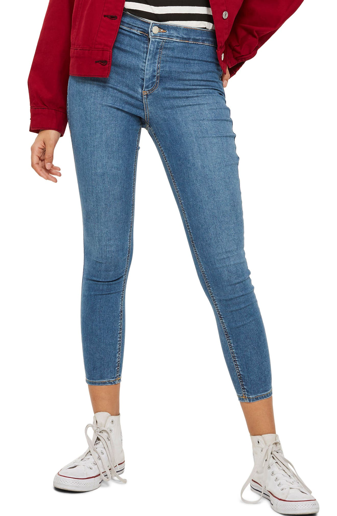 Joni Skinny Jeans,                         Main,                         color, Mid Denim