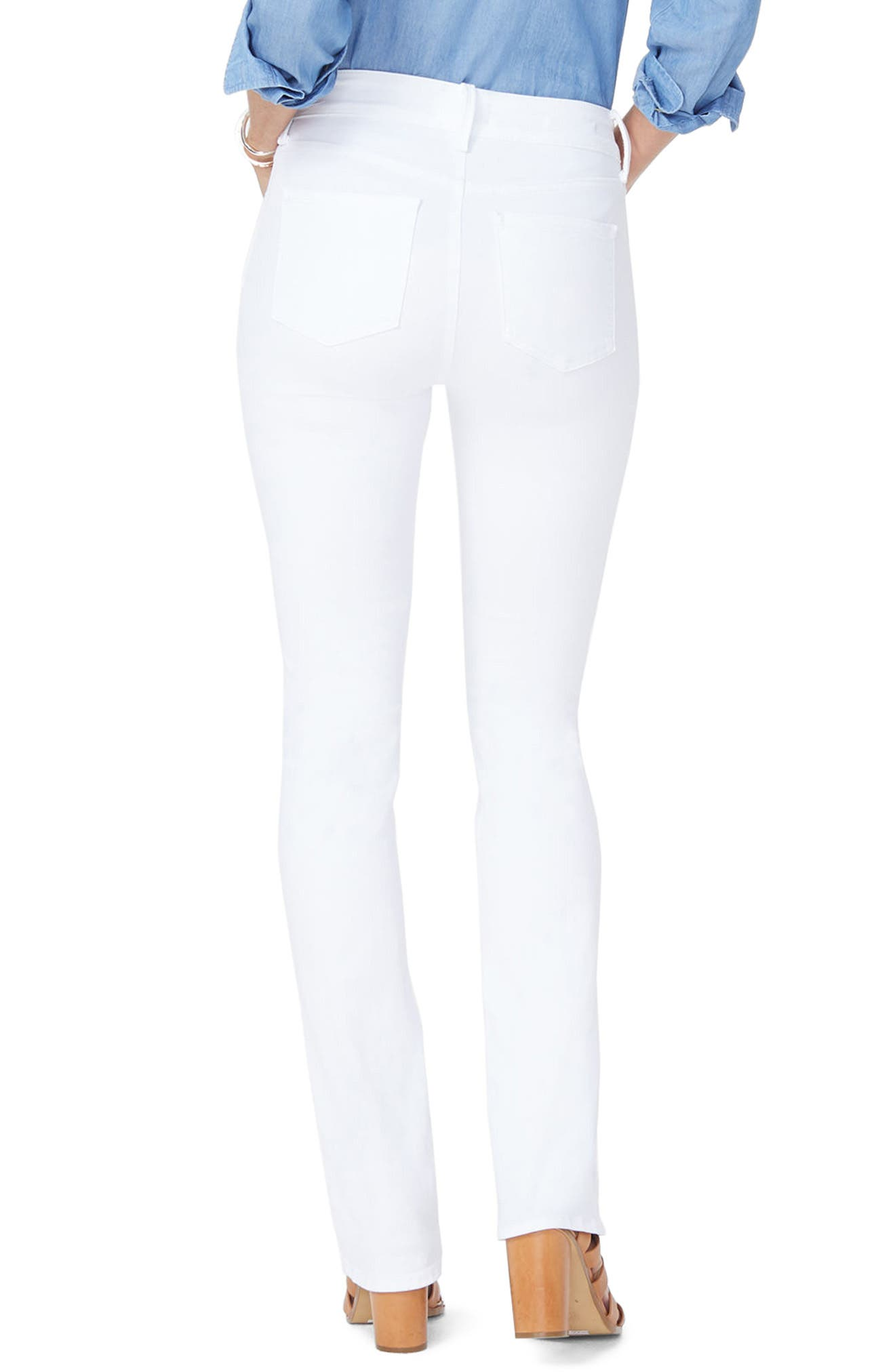 Billie Mini Bootcut Jeans,                             Alternate thumbnail 2, color,                             Optic White