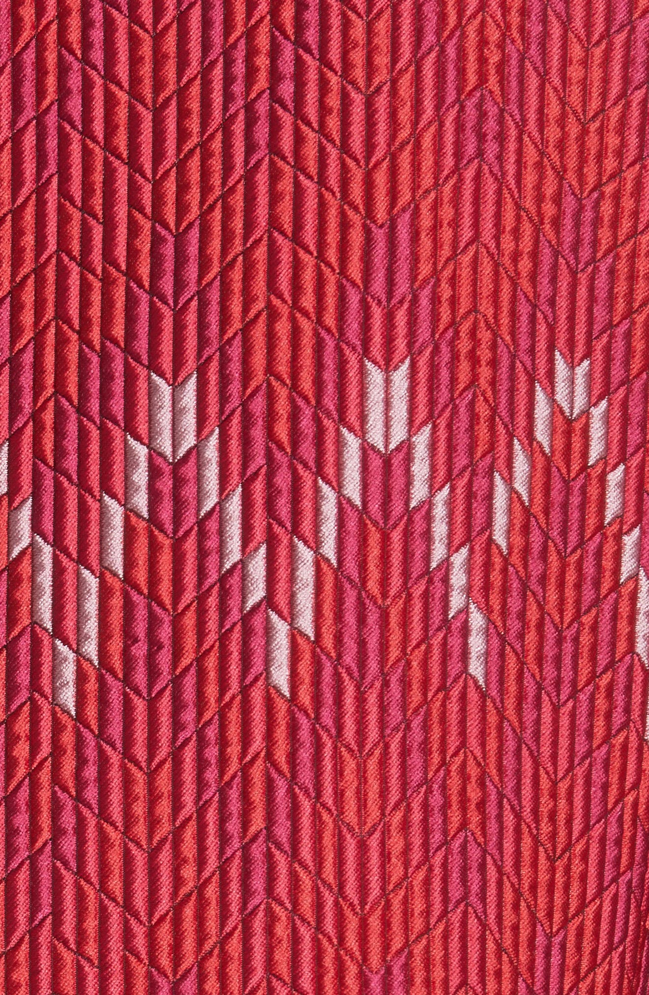 Flame Stitch Jacquard Jacket,                             Alternate thumbnail 5, color,                             Strawberry