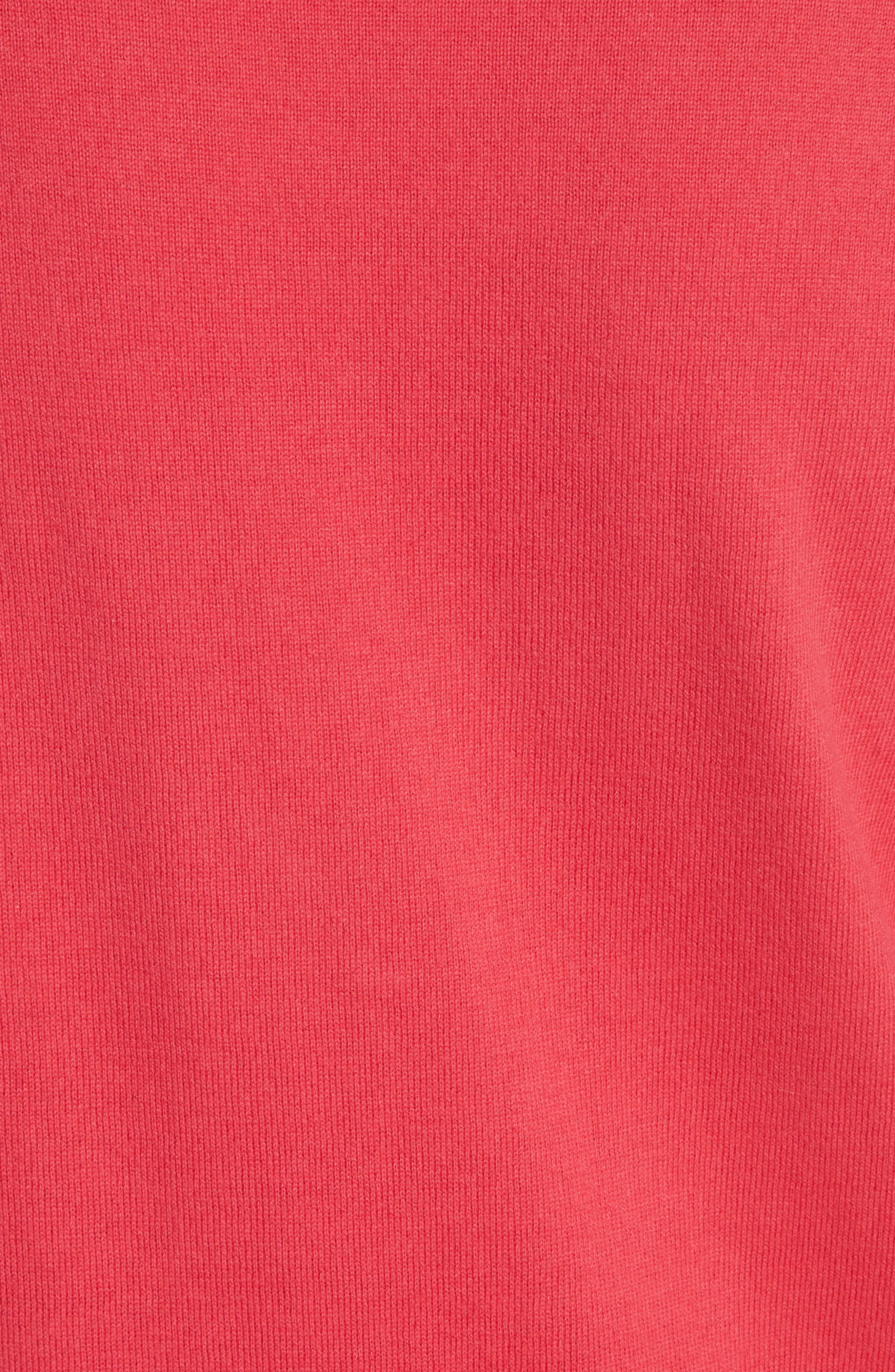 Cotton & Cashmere Sweater,                             Alternate thumbnail 5, color,                             Charged Pink