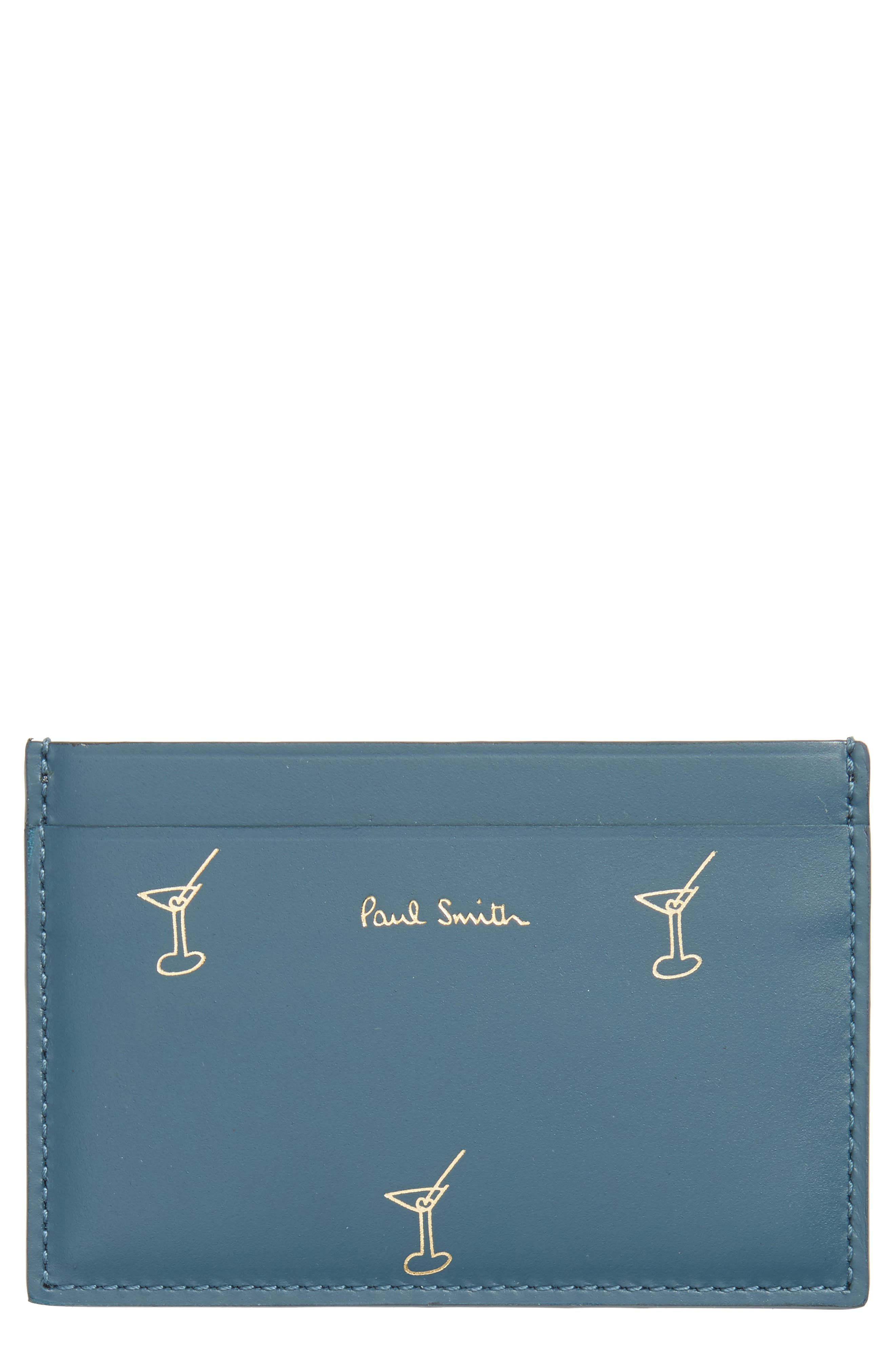 Main Image - Paul Smith Doodles Leather Card Case