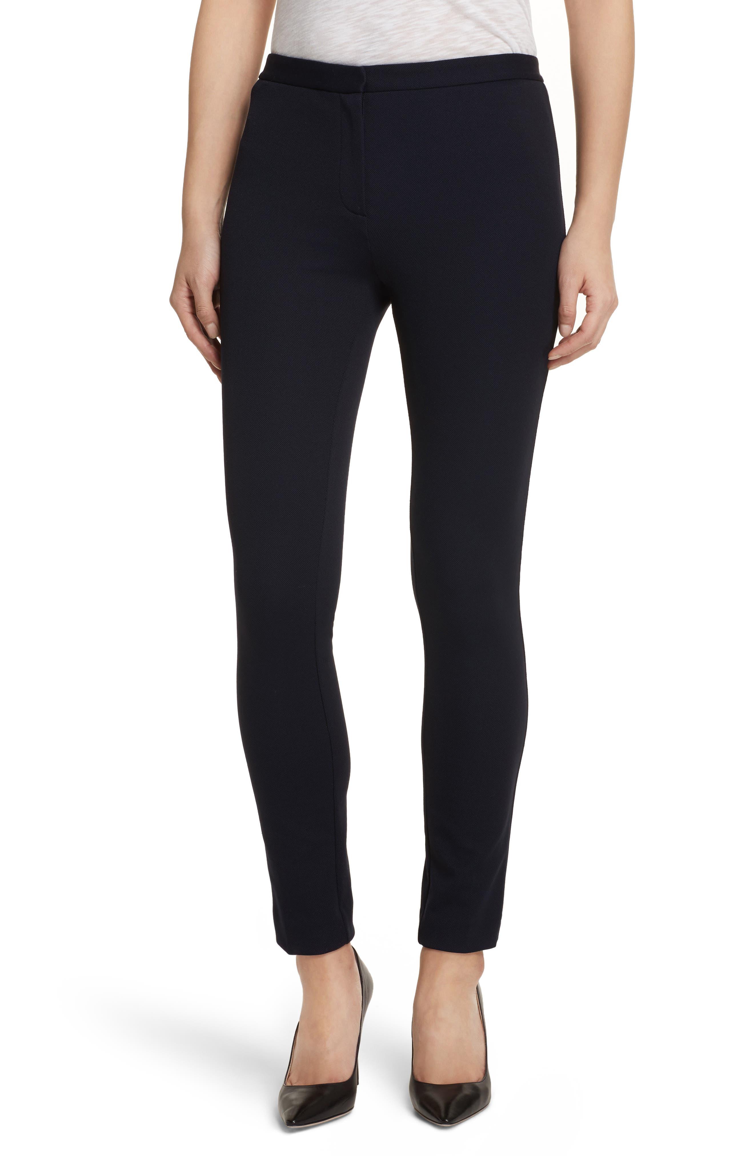Piqué Skinny Pants,                             Main thumbnail 1, color,                             Black