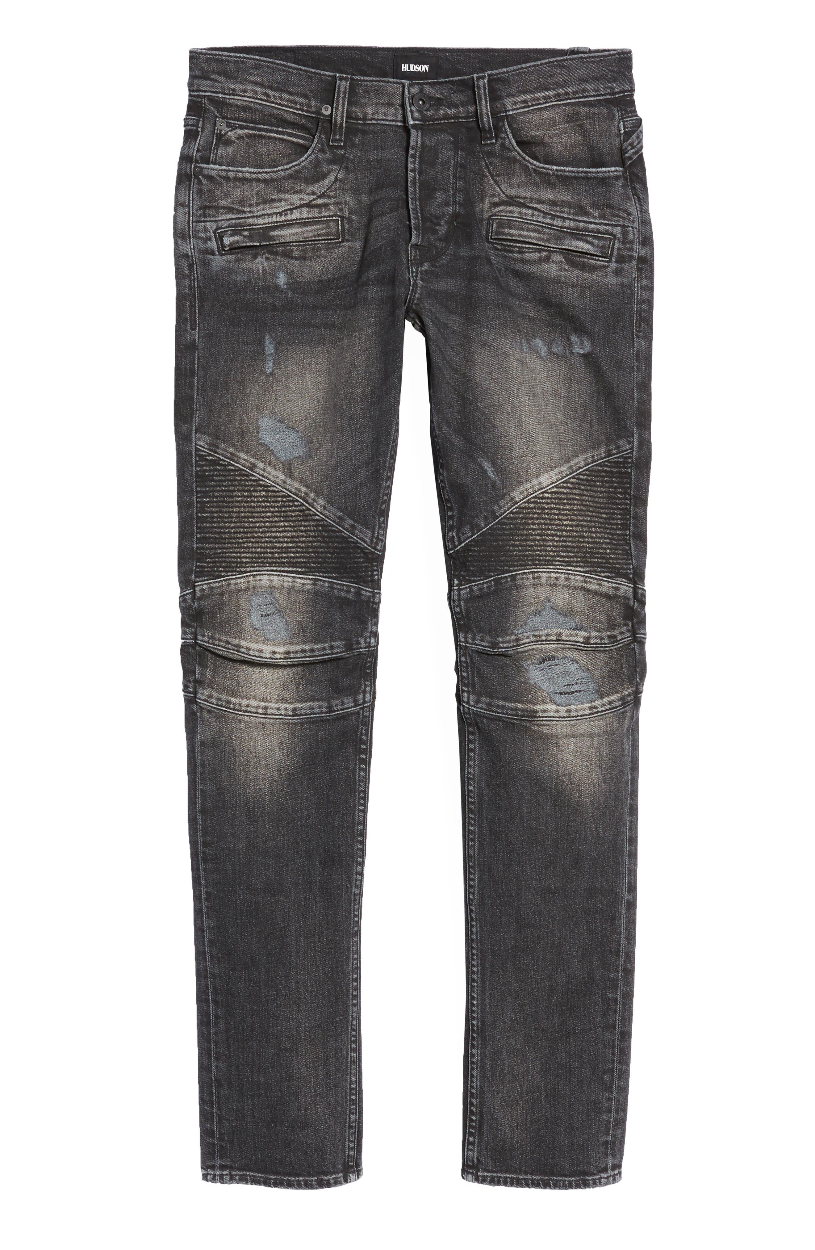 Blinder Biker Skinny Fit Jeans,                             Alternate thumbnail 6, color,                             Hacker