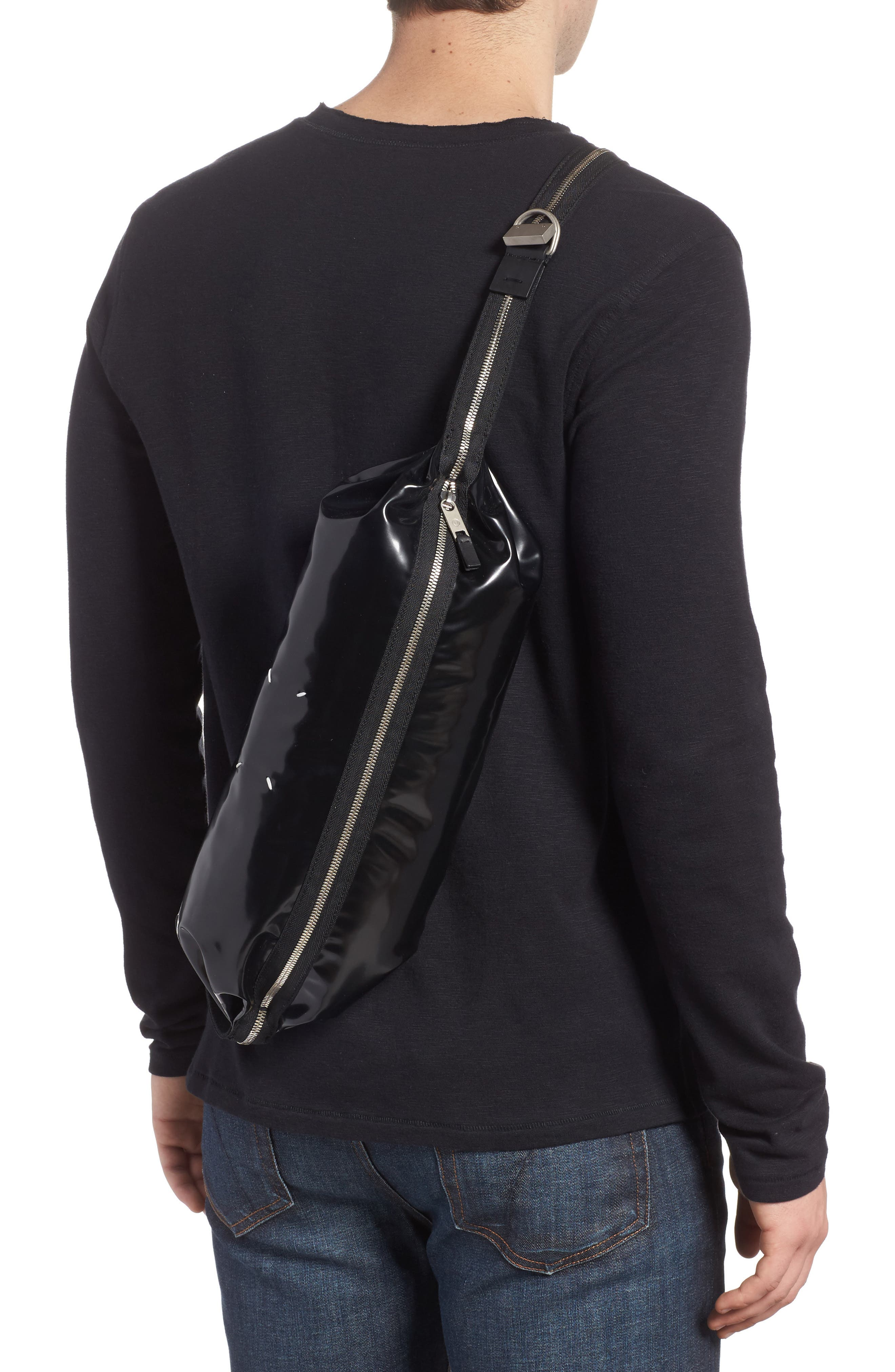 Patent Leather Hip Pack,                         Main,                         color, Black