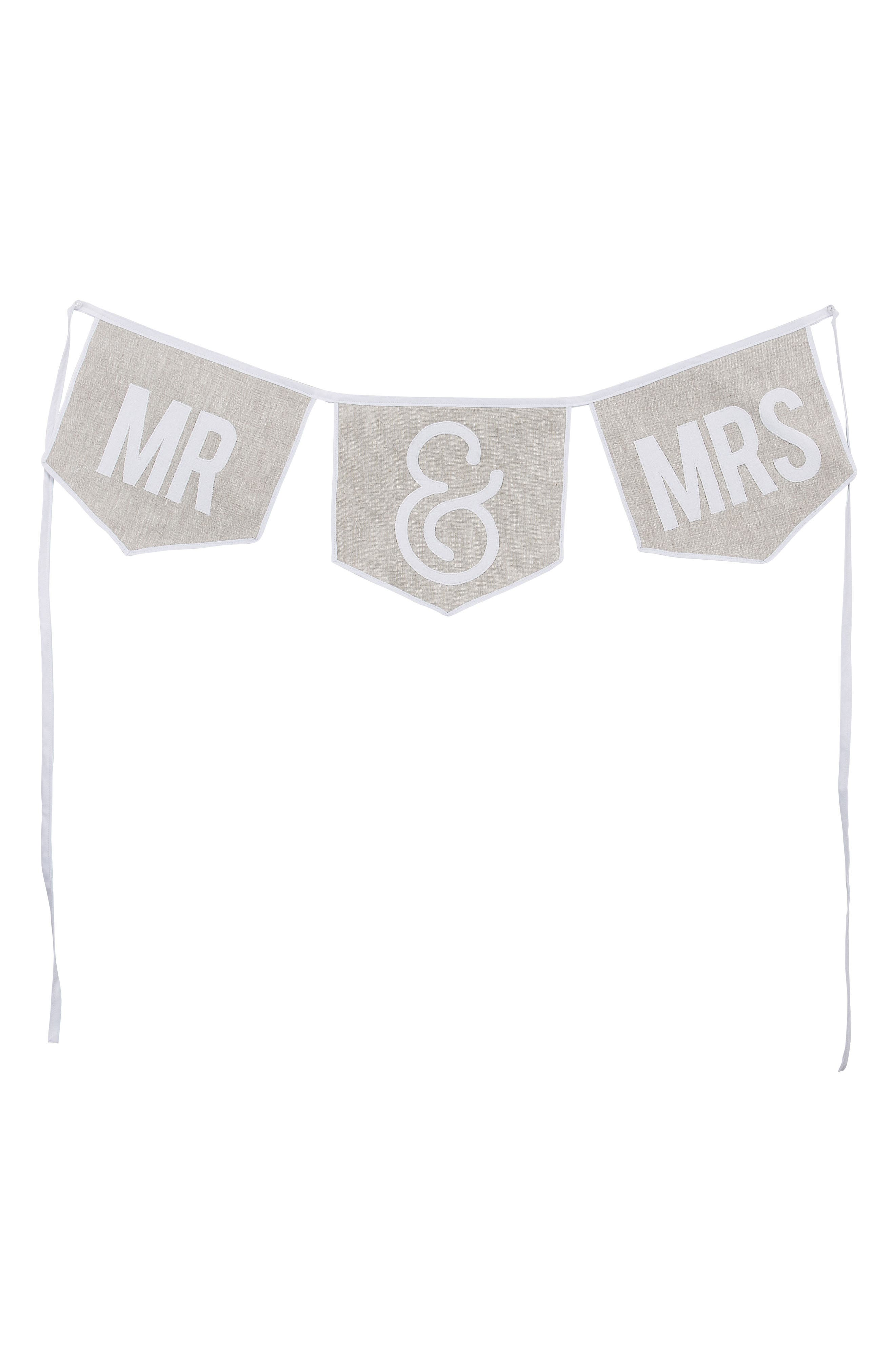 Mr & Mrs Banner,                         Main,                         color, White/ Gray