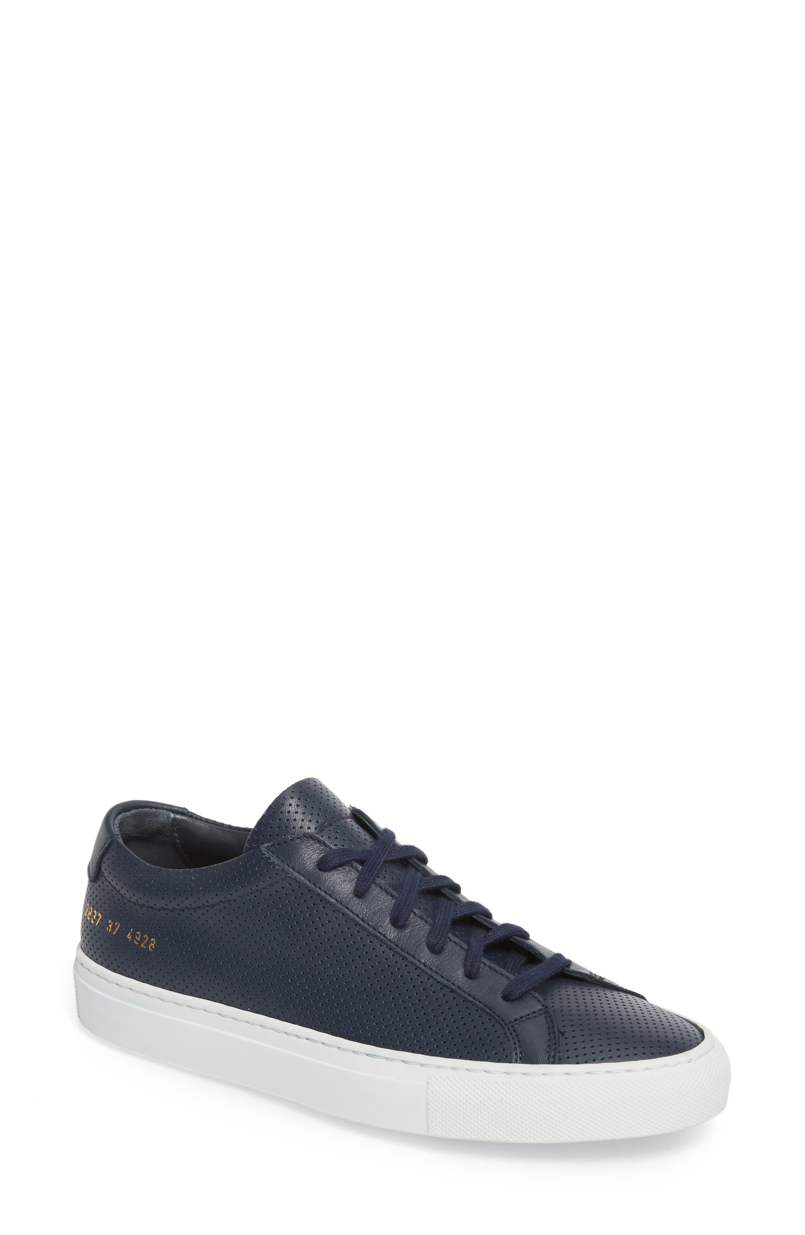 Original Achilles Perforated Low Sneaker,                         Main,                         color, Navy