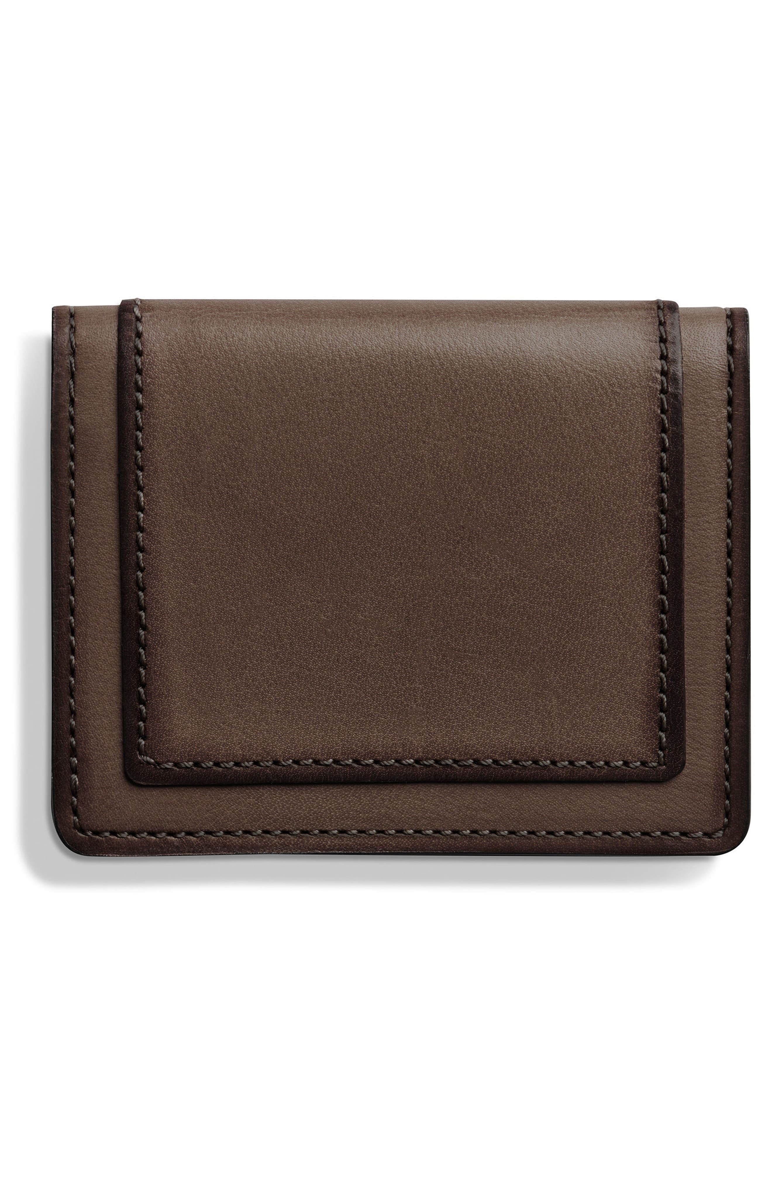 Outlaw Folding Card Case,                             Alternate thumbnail 3, color,                             Deep Brown