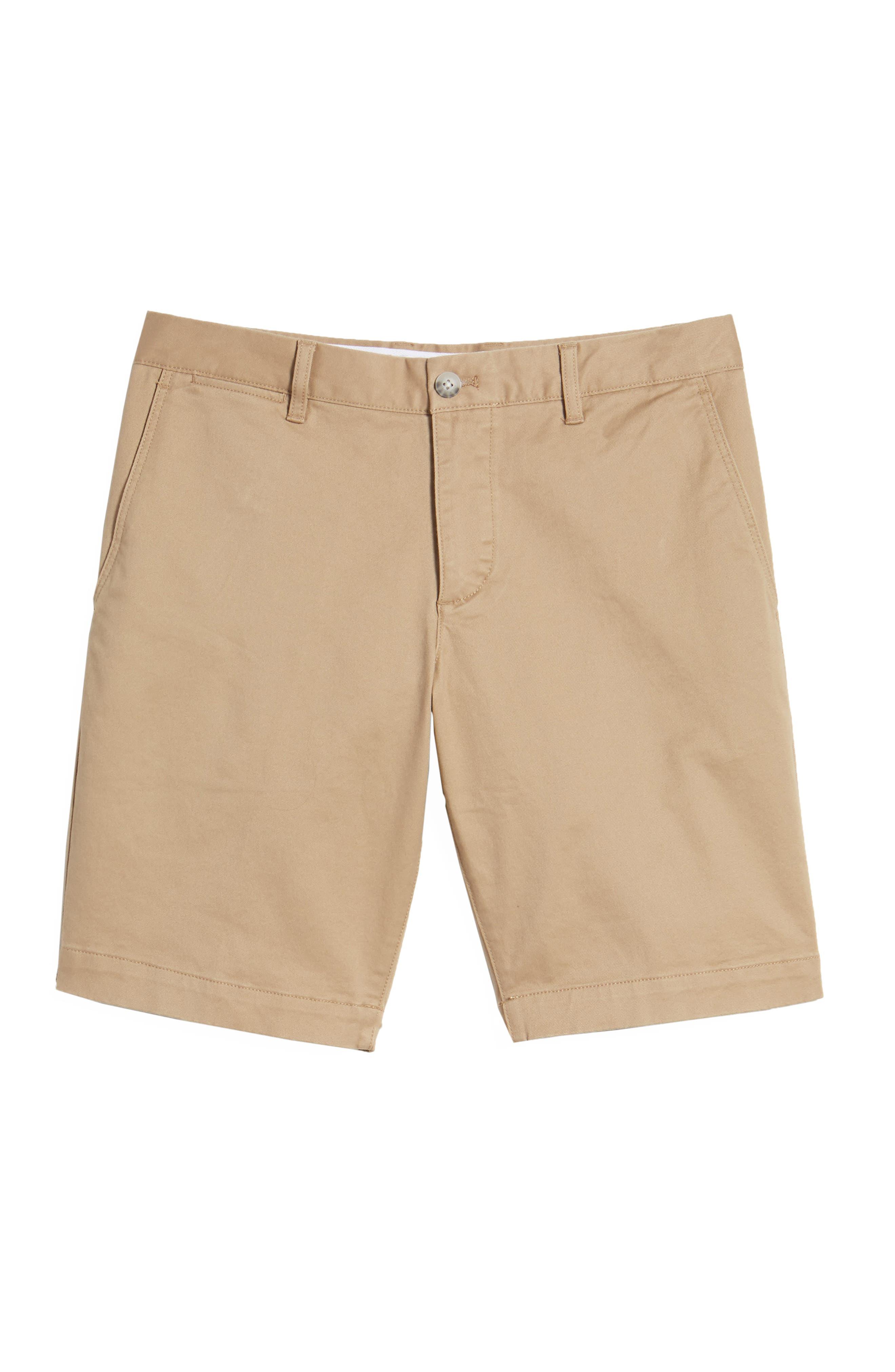 Slim Fit Chino Shorts,                             Alternate thumbnail 6, color,                             Kraft Beige