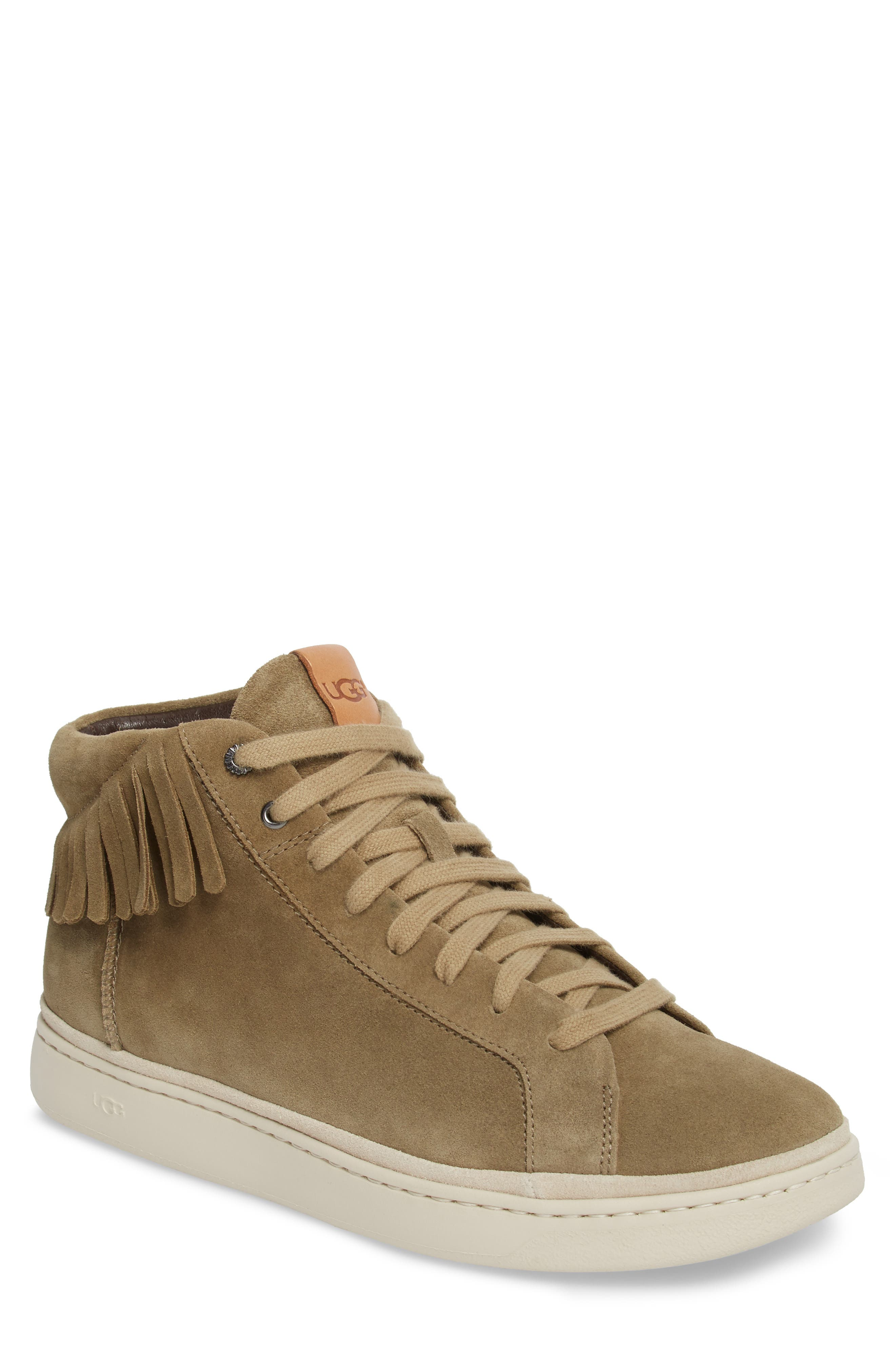 Alternate Image 1 Selected - UGG® Brecken Fringe High-Top Sneaker (Men)