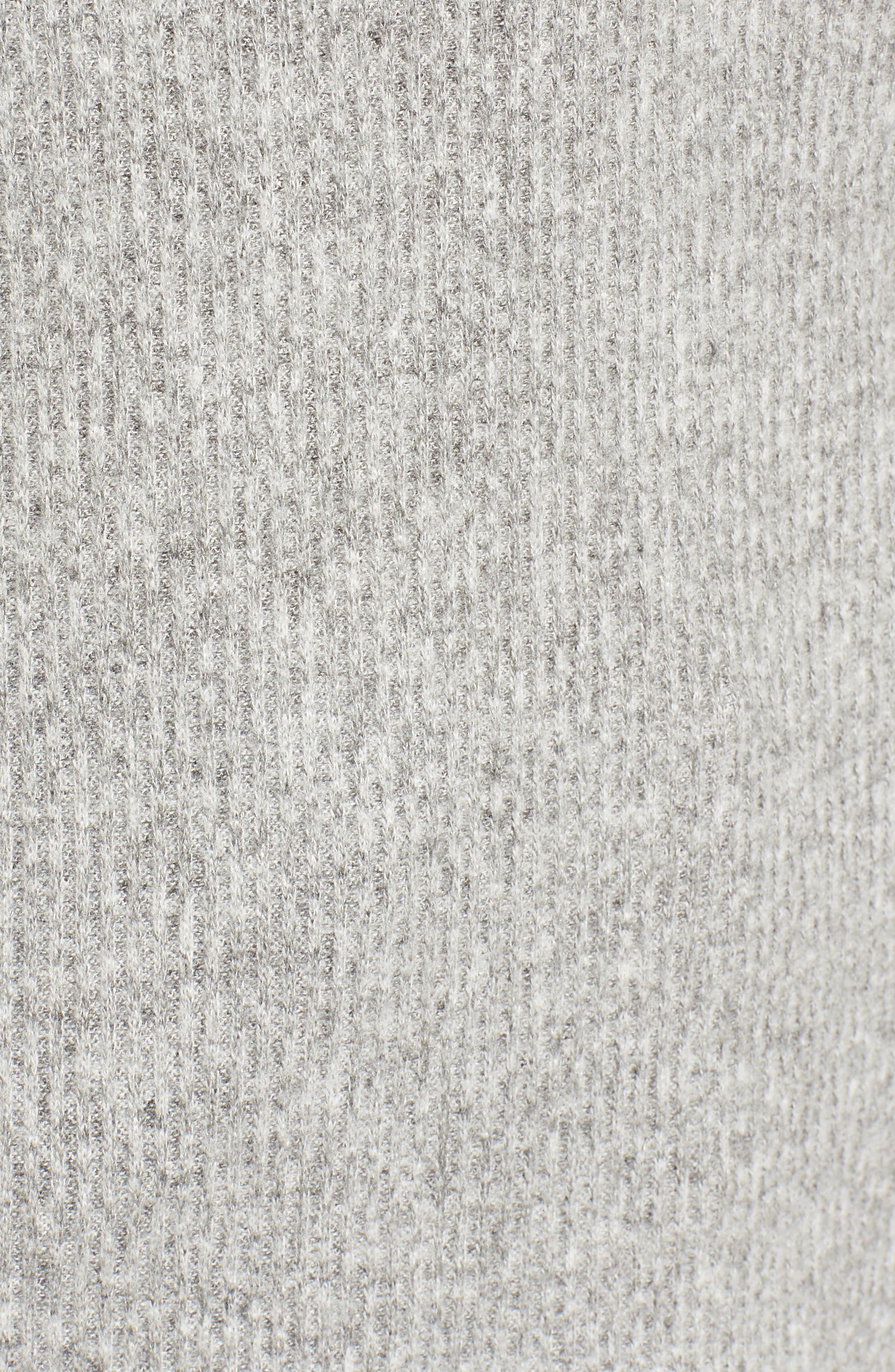 Ribbed Split Neck Sweater,                             Alternate thumbnail 5, color,                             Grey