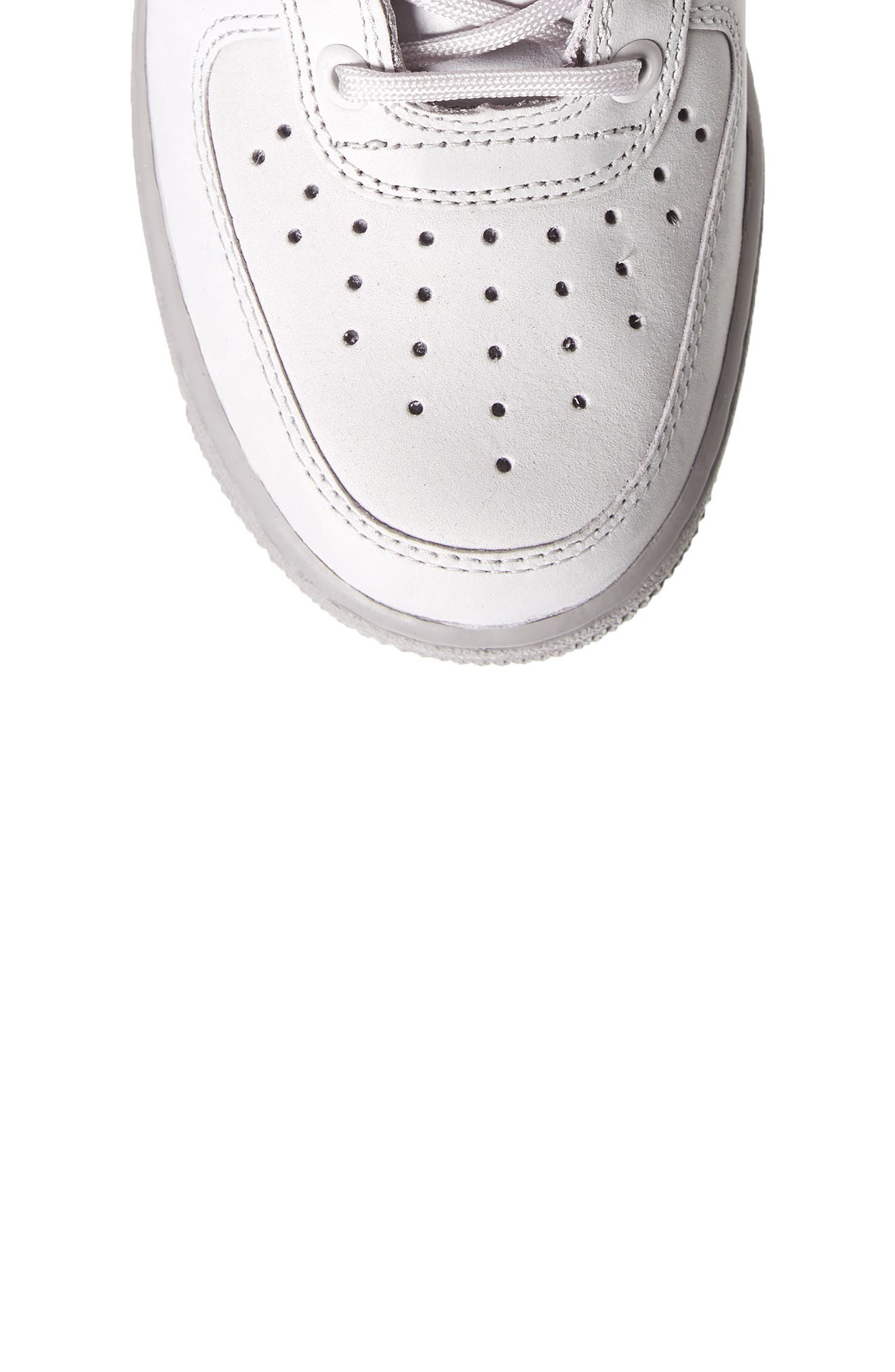 SF Air Force 1 High Top Sneaker,                             Alternate thumbnail 5, color,                             Vast Grey/ Vast Grey