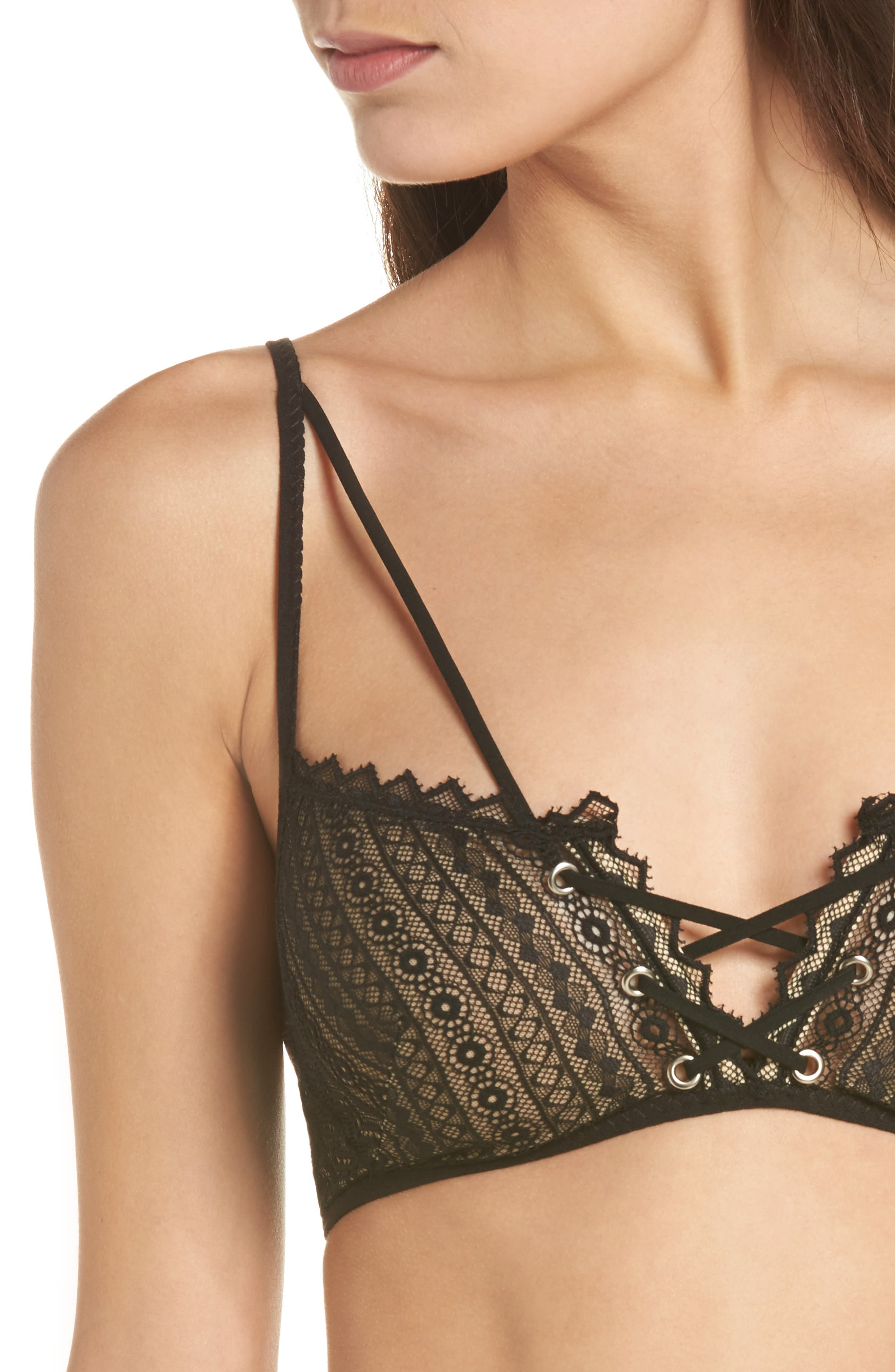 Thistle & Spire Bond Bralette,                             Alternate thumbnail 9, color,                             Black