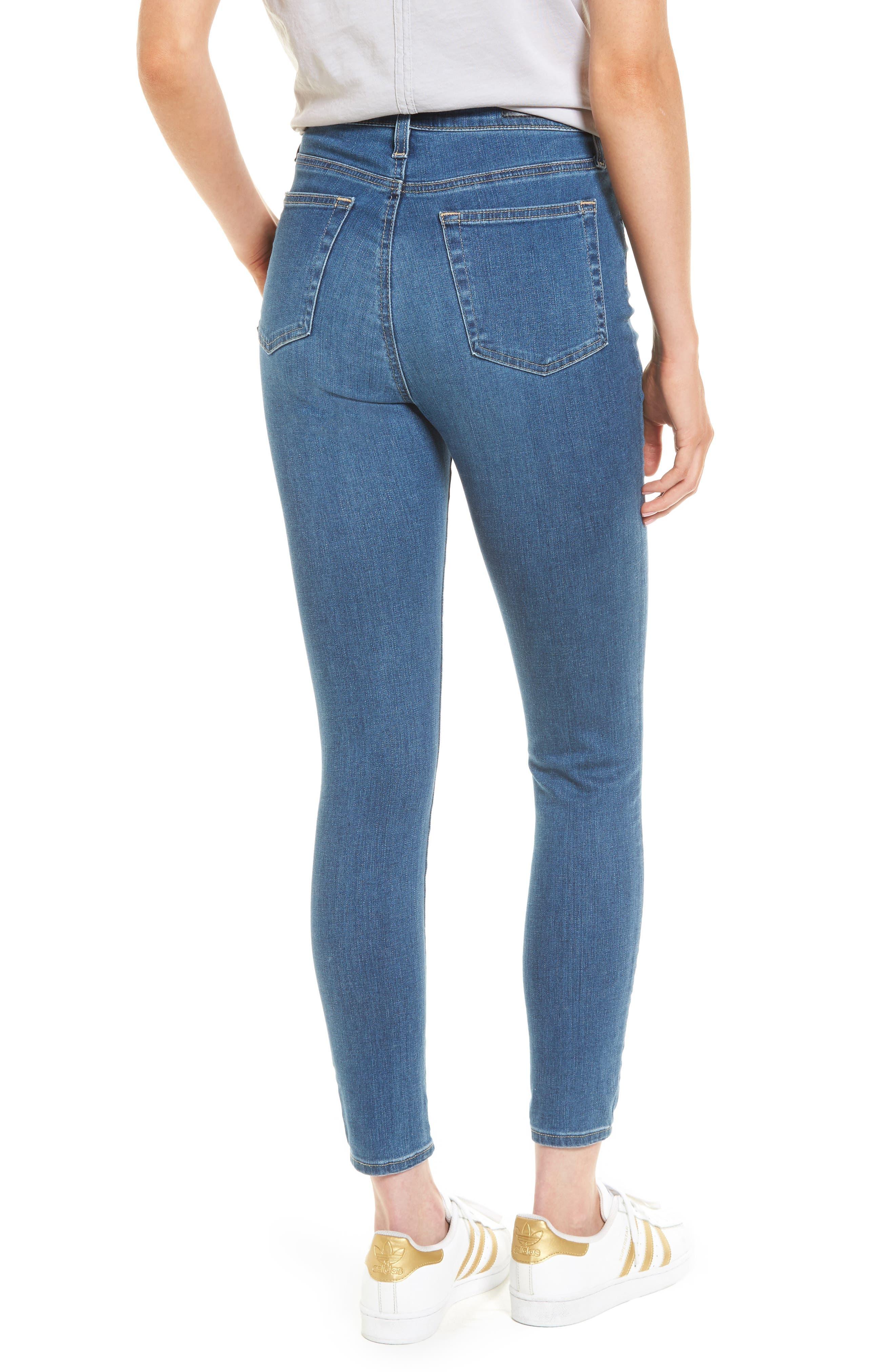 Mila High Waist Ankle Skinny Jeans,                             Alternate thumbnail 2, color,                             Indigo Viking