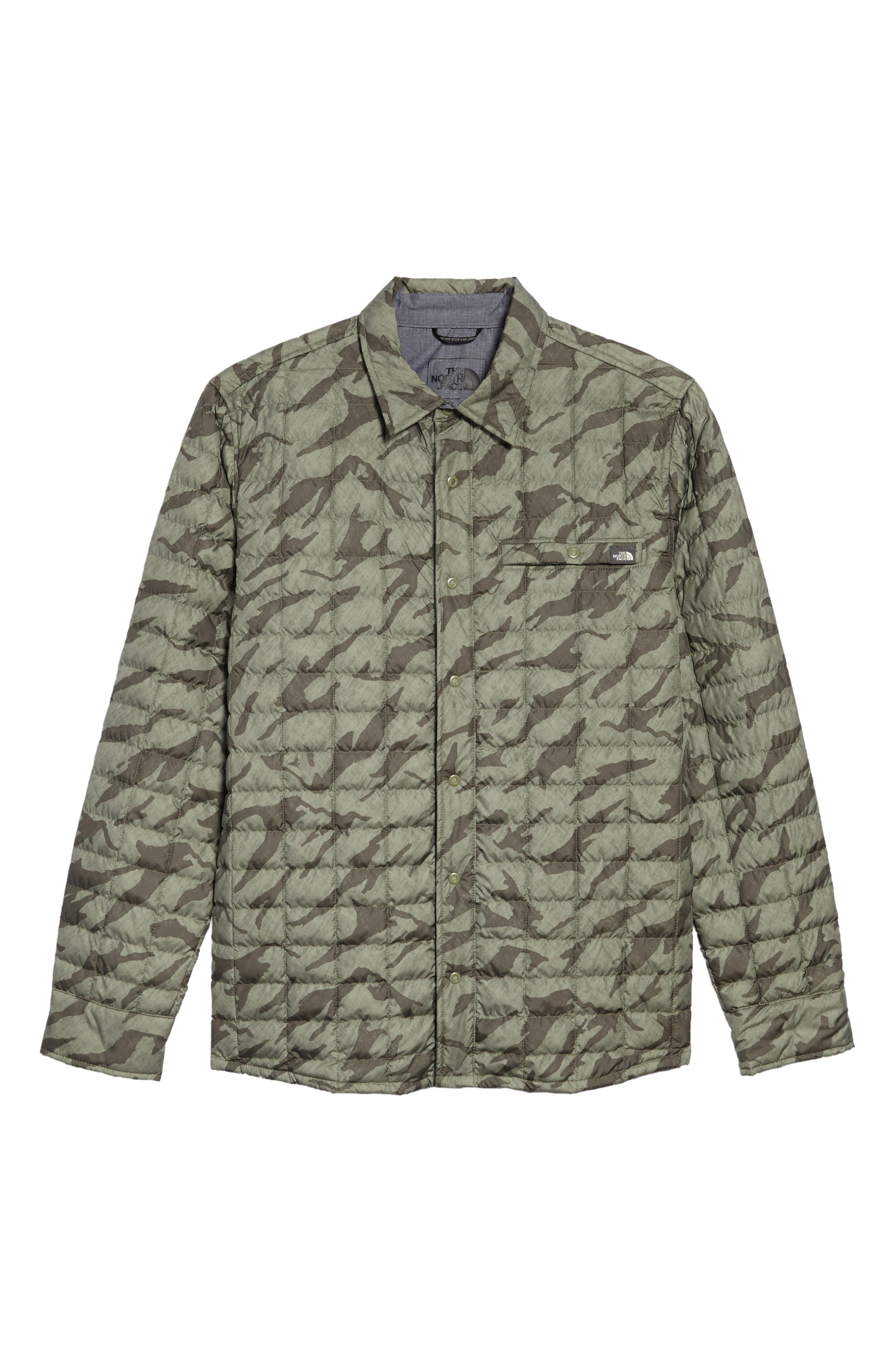 Reyes ThermoBall Shirt Jacket,                             Alternate thumbnail 6, color,                             Deep Lichen Green