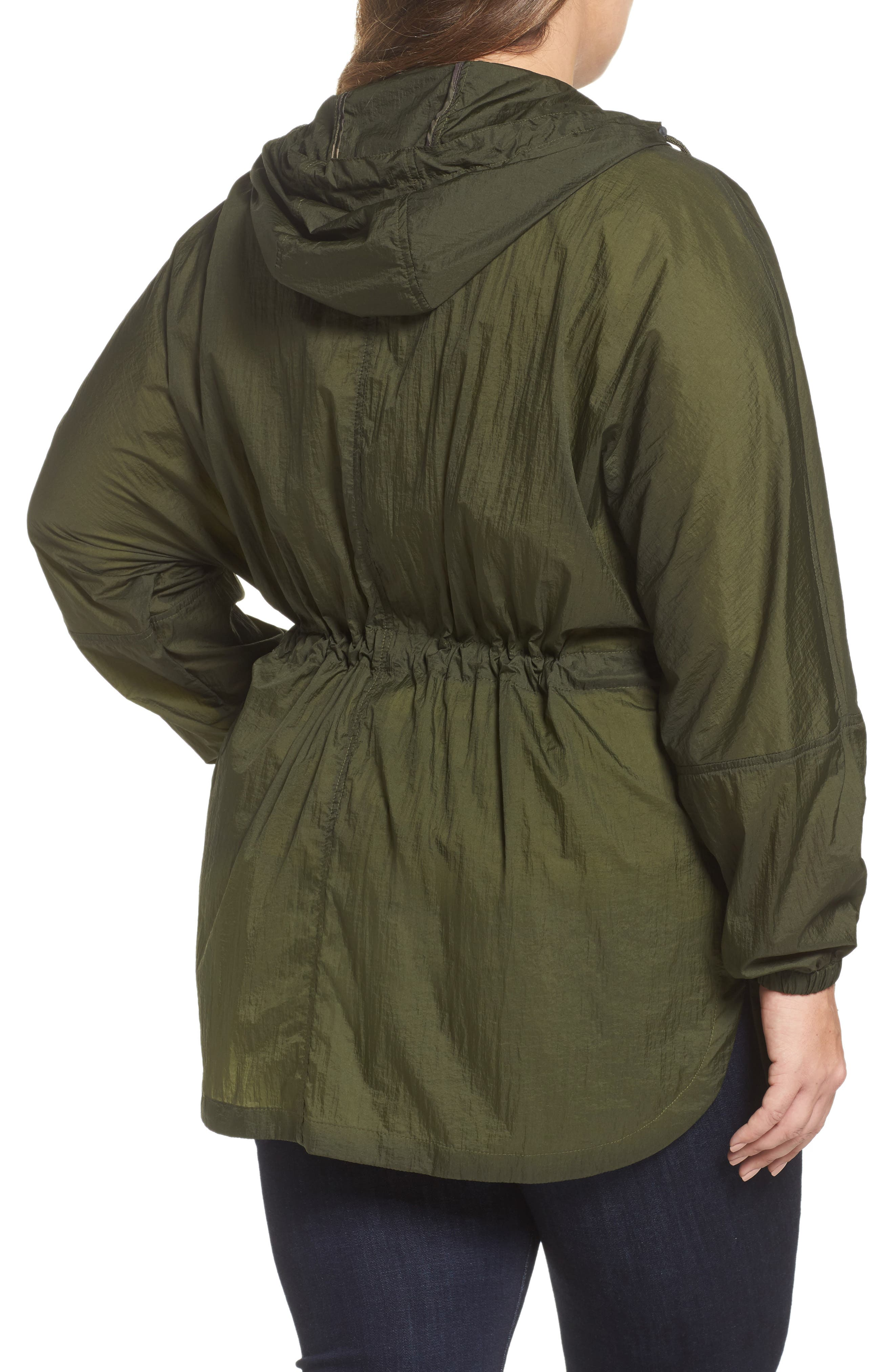 Hooded Windbreaker,                             Alternate thumbnail 2, color,                             Army Green