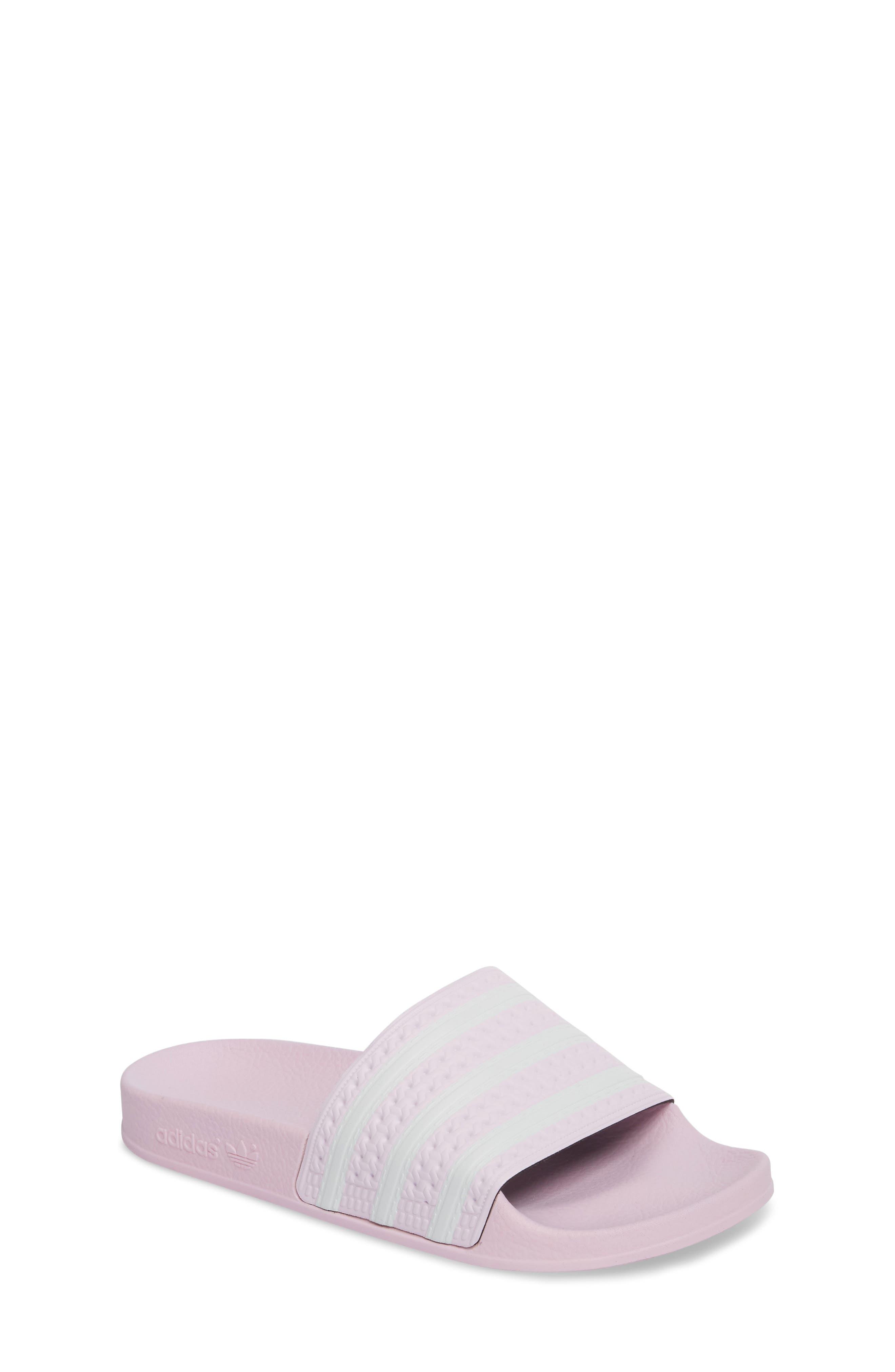 Adilette Sandal,                             Main thumbnail 1, color,                             Aero Pink /  Ftwr