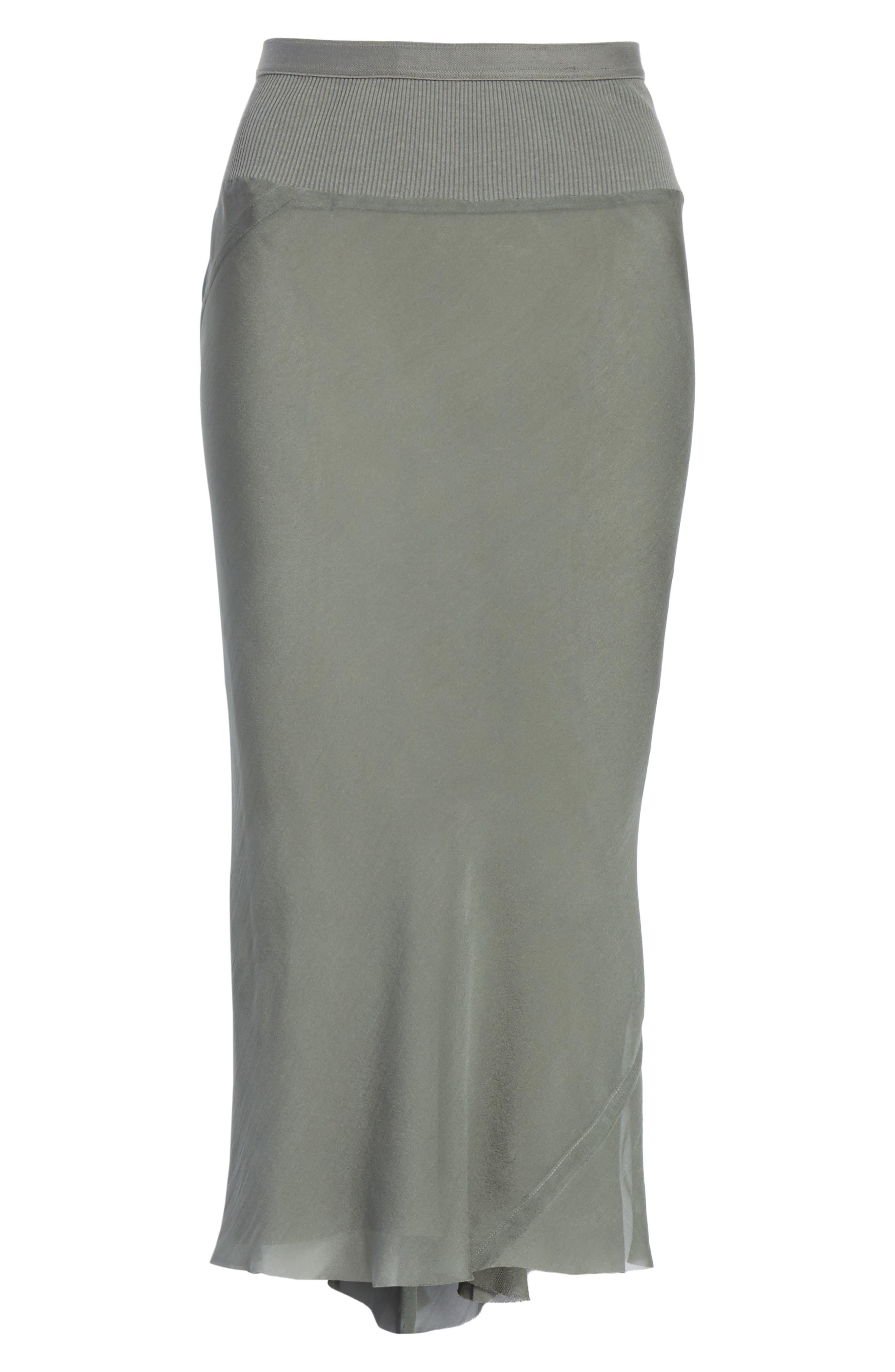 Silk Chiffon Midi Skirt,                             Alternate thumbnail 6, color,                             Sage