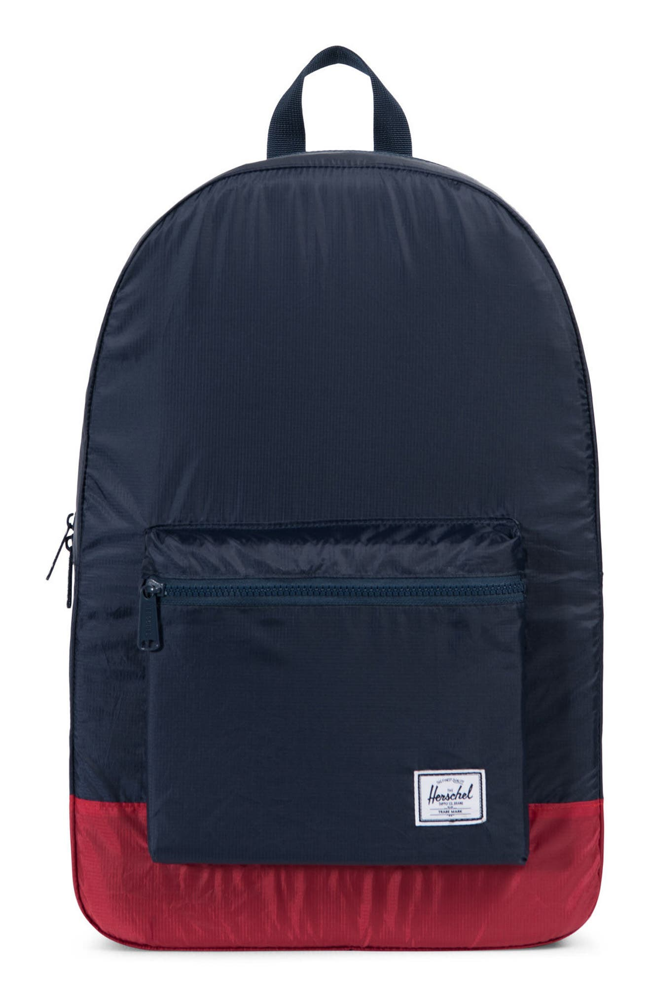 Packable Daypack,                             Main thumbnail 1, color,                             Navy/ Red