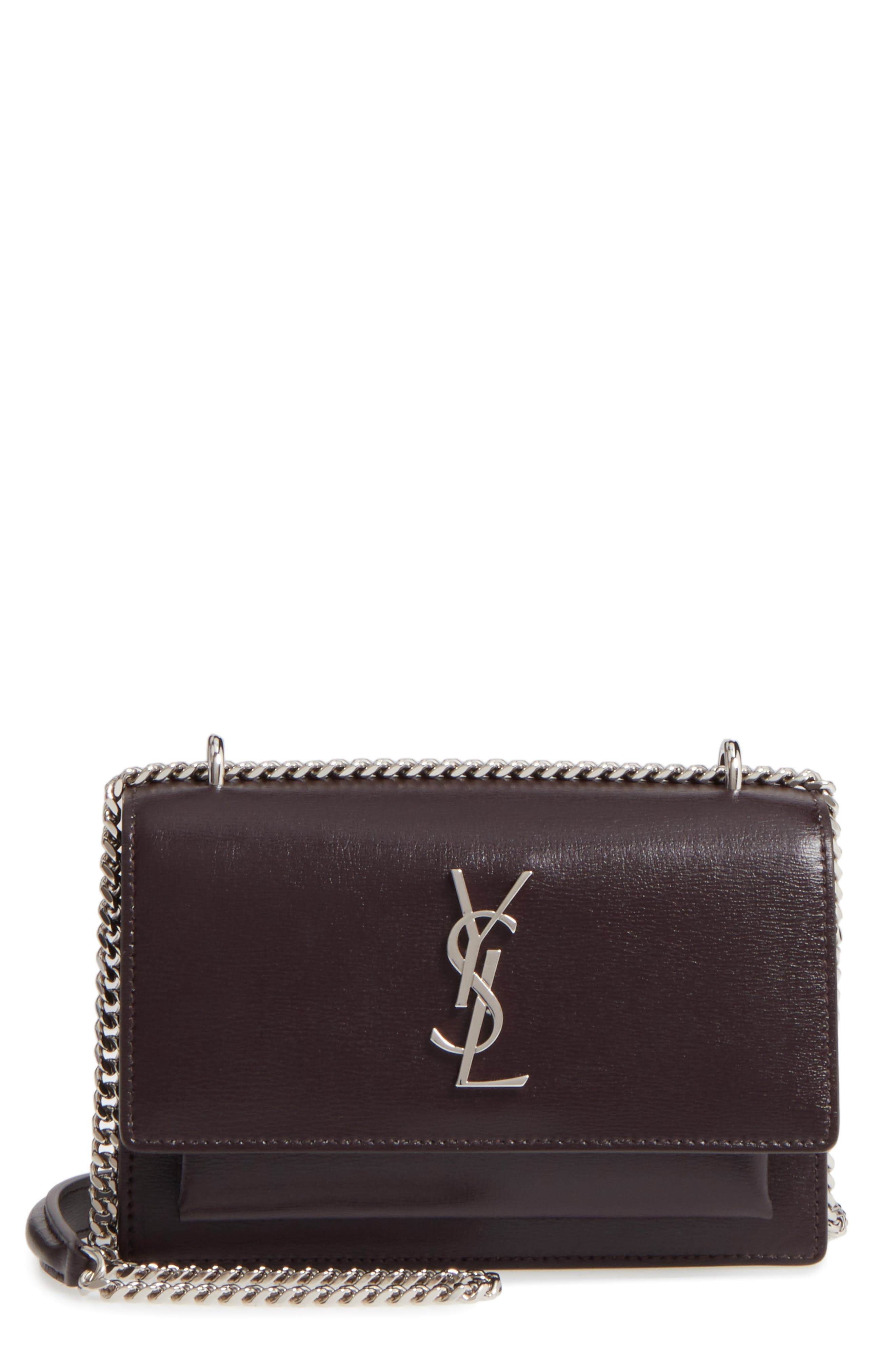Main Image - Saint Laurent Sunset Leather Wallet on a Chain
