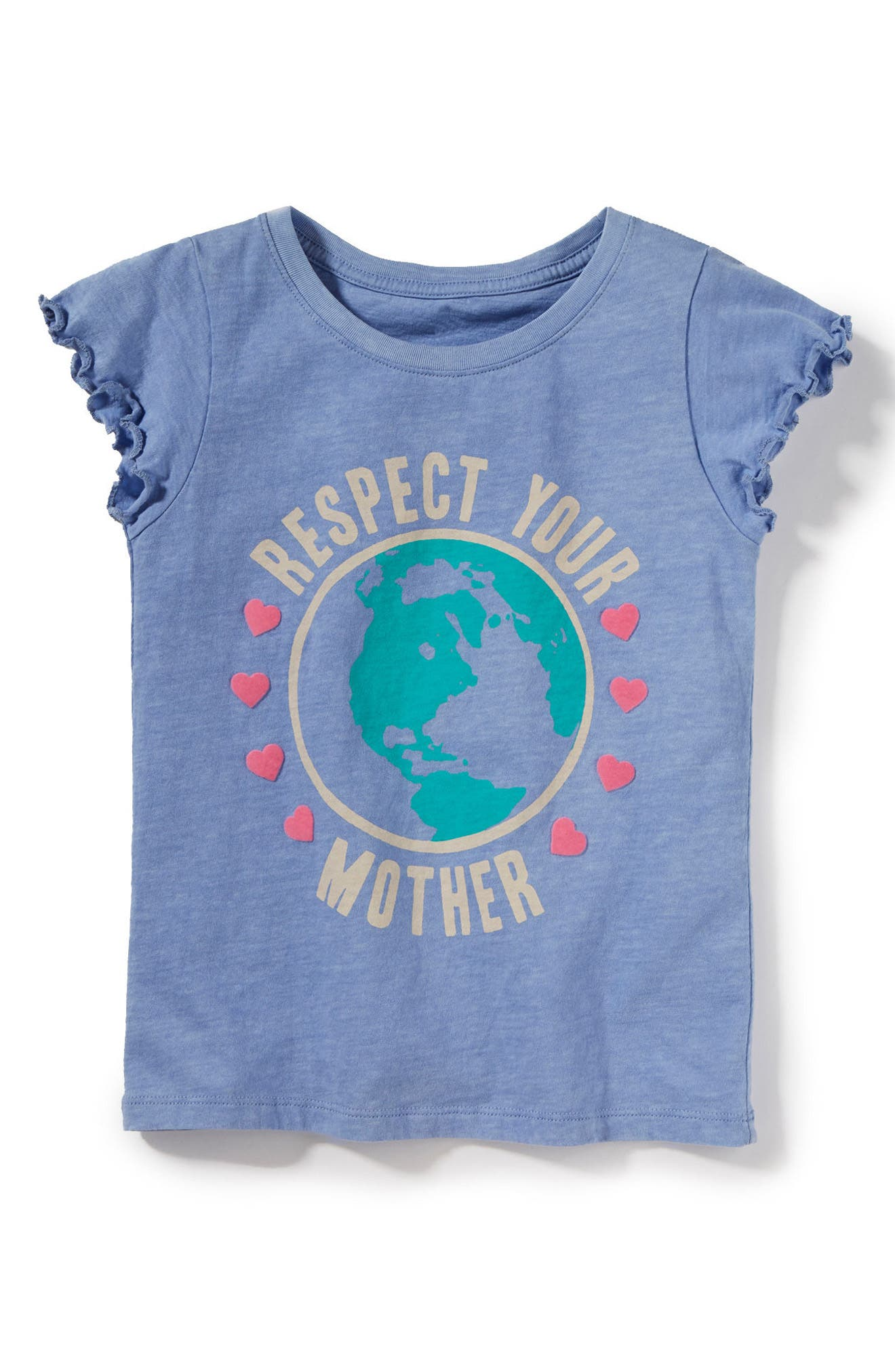 Respect Your Mother Graphic Tee,                             Main thumbnail 1, color,                             Periwinkle