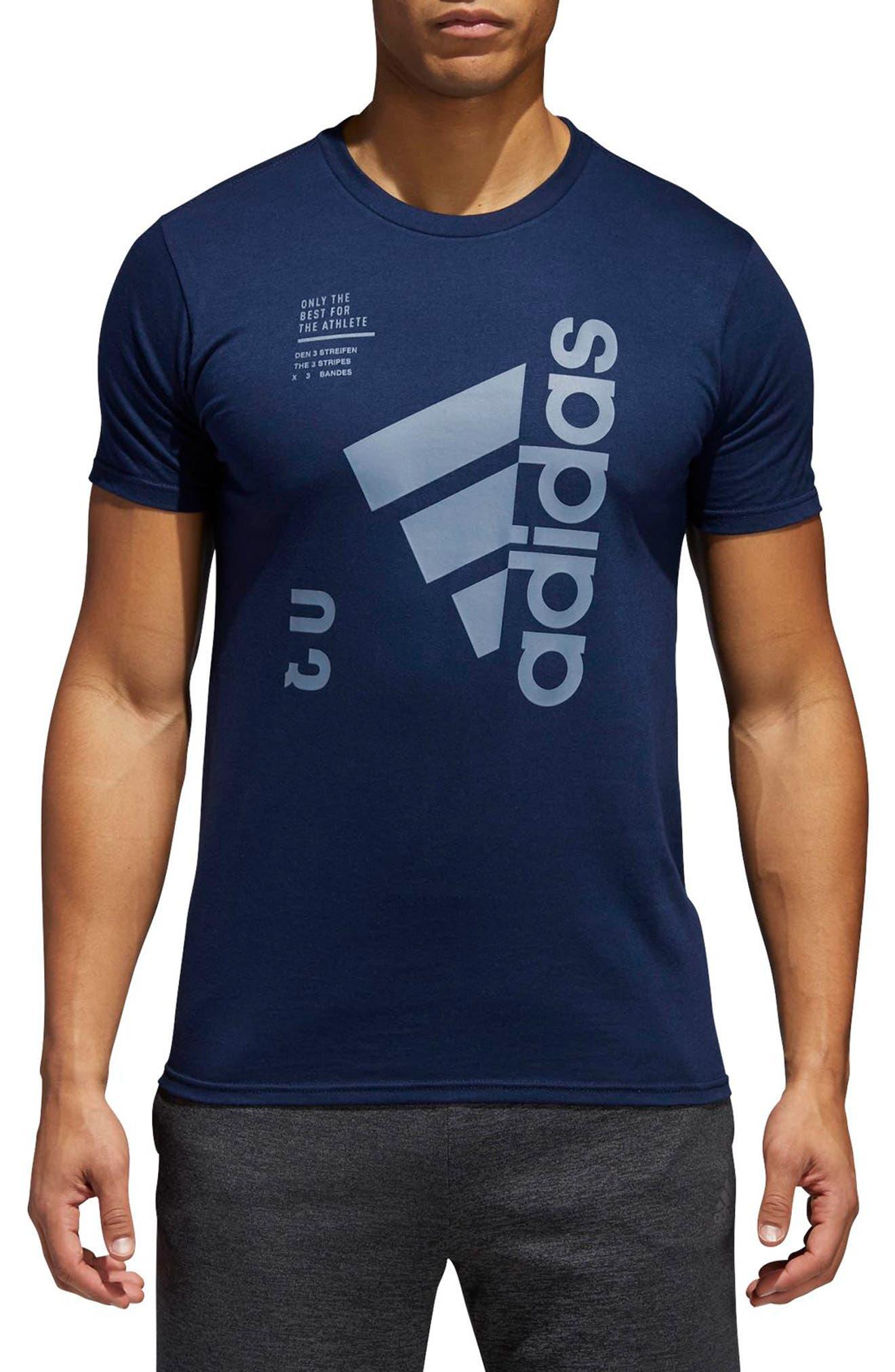 Main Image - adidas Jersey Hack Crewneck T-Shirt