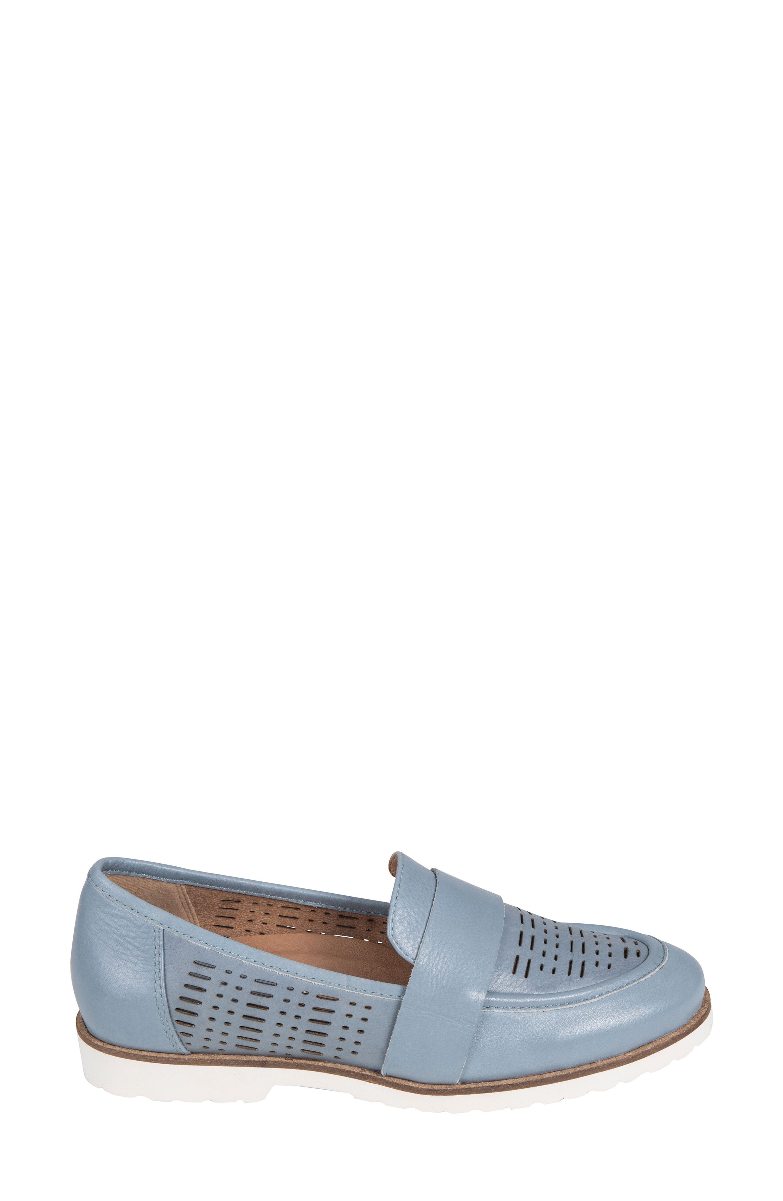 Masio Loafer,                             Alternate thumbnail 3, color,                             Blue Leather