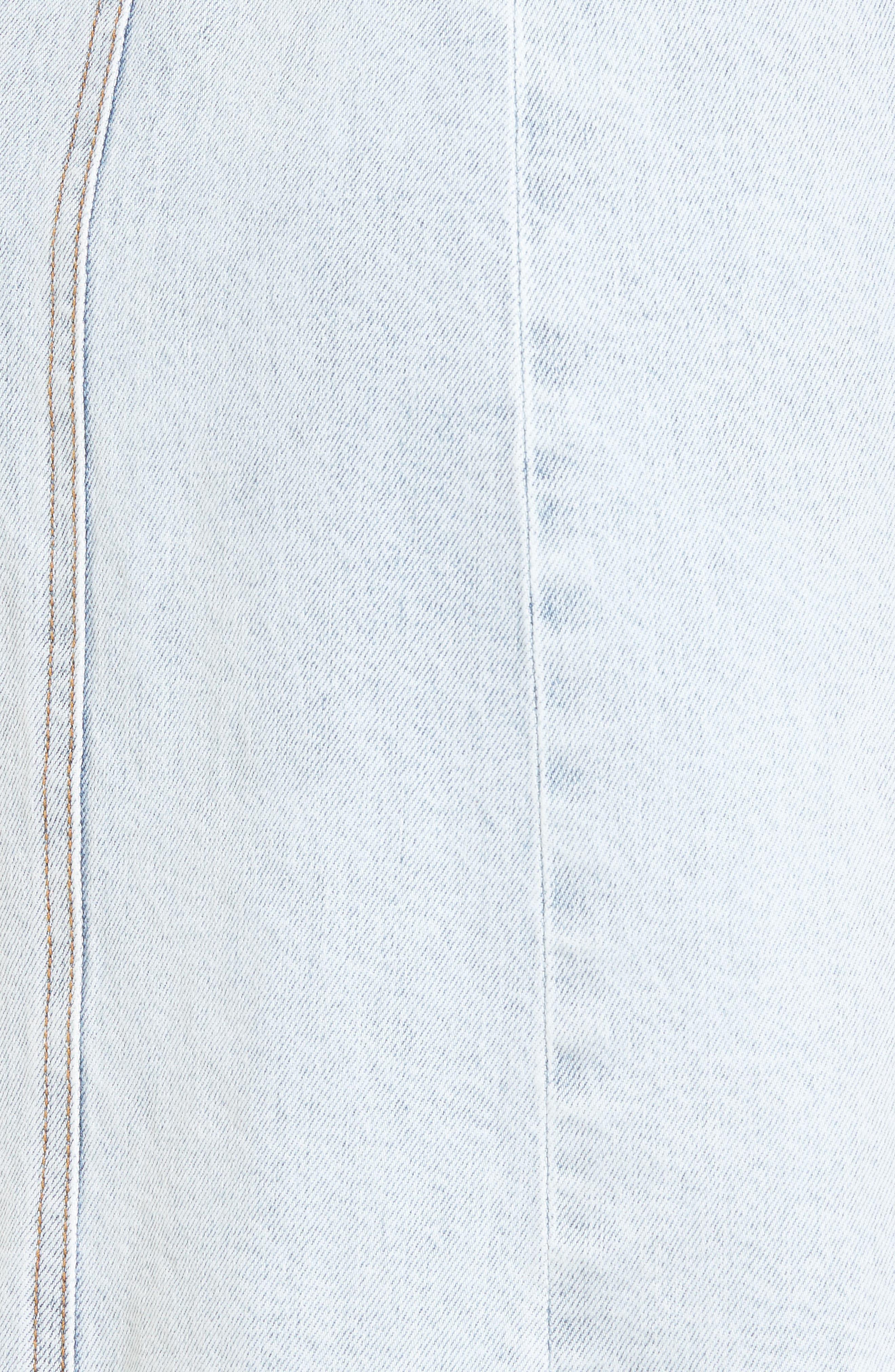 Denim Pinafore Dress,                             Alternate thumbnail 5, color,                             Desert Sun Bleached 1