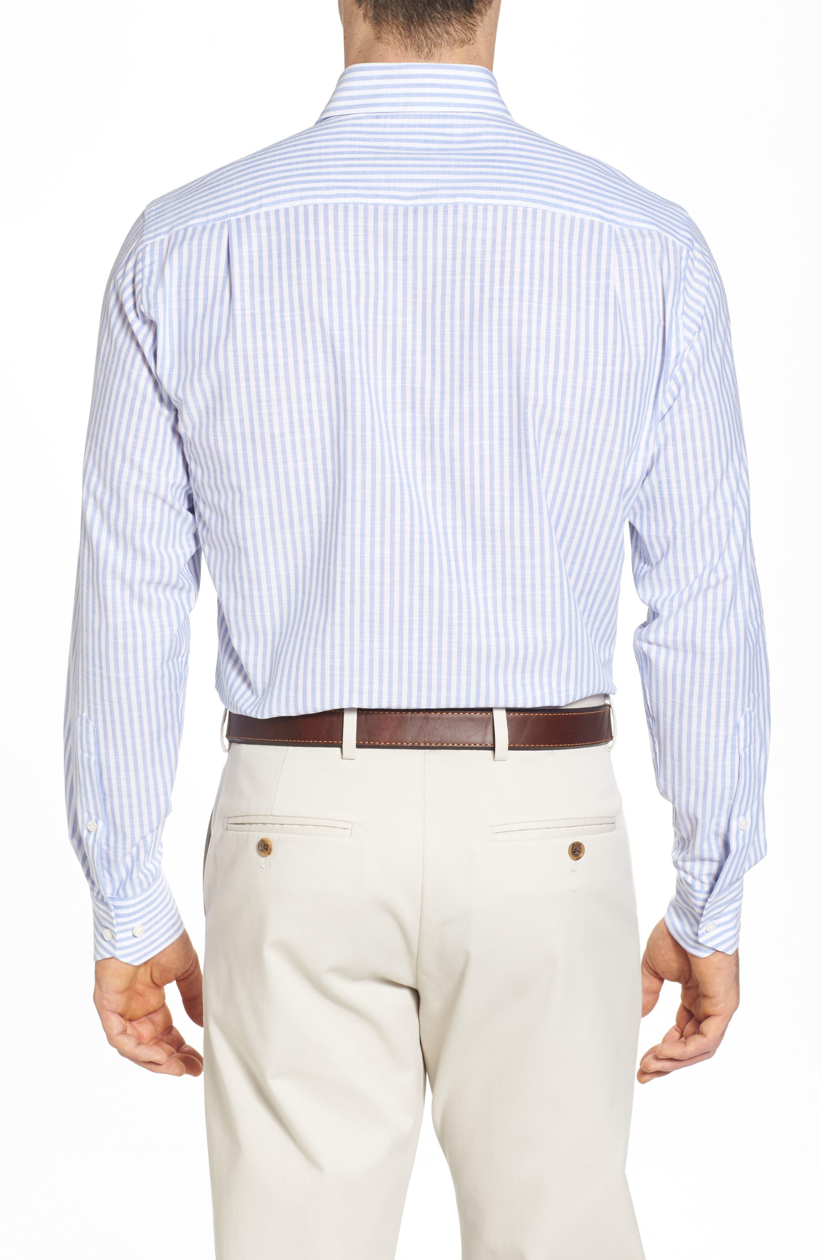 Summer Stripe Chambray Sport Shirt,                             Alternate thumbnail 2, color,                             Blue Ceillo