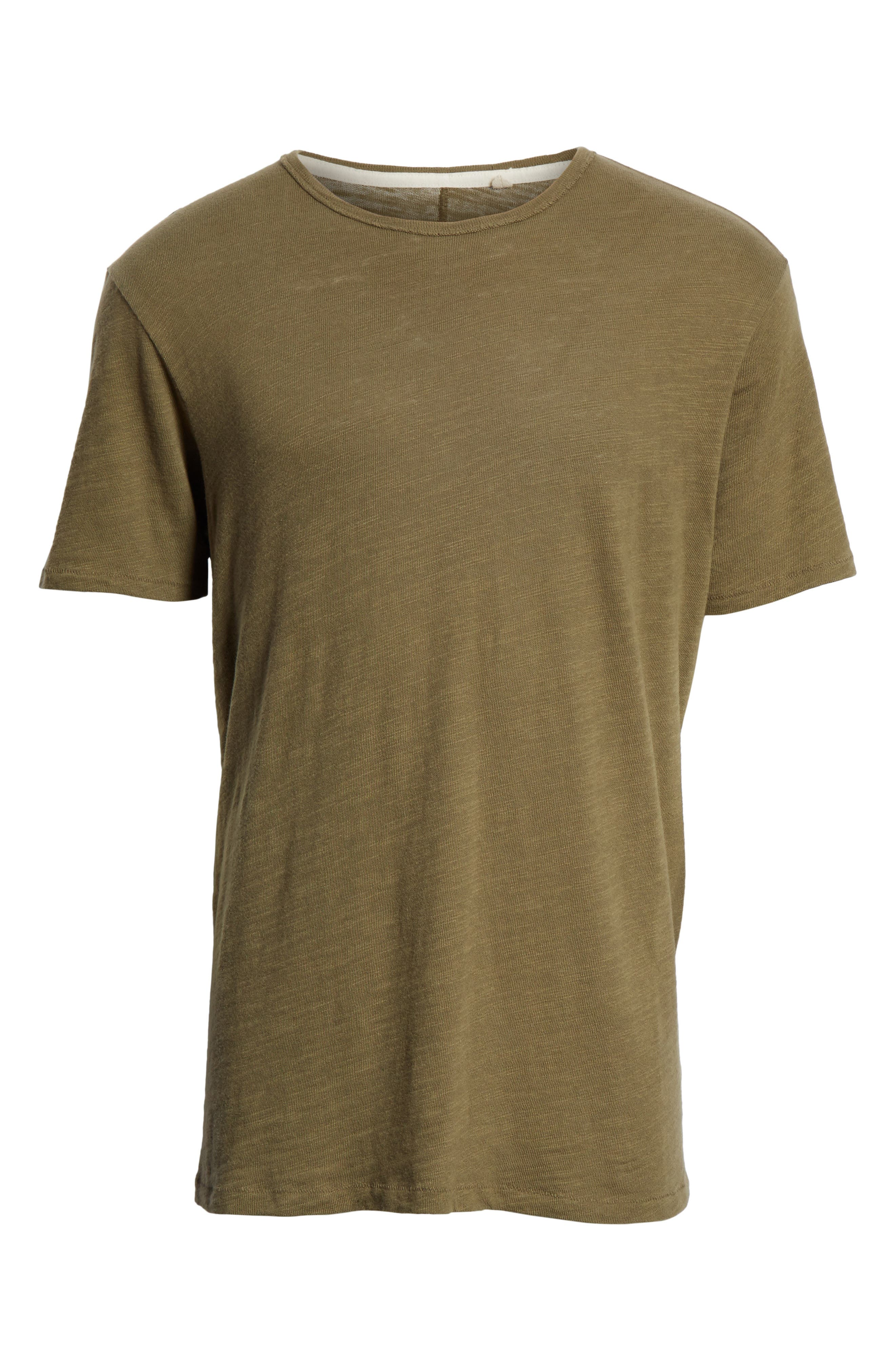 Standard Issue Slubbed Cotton T-Shirt,                             Alternate thumbnail 6, color,                             Army
