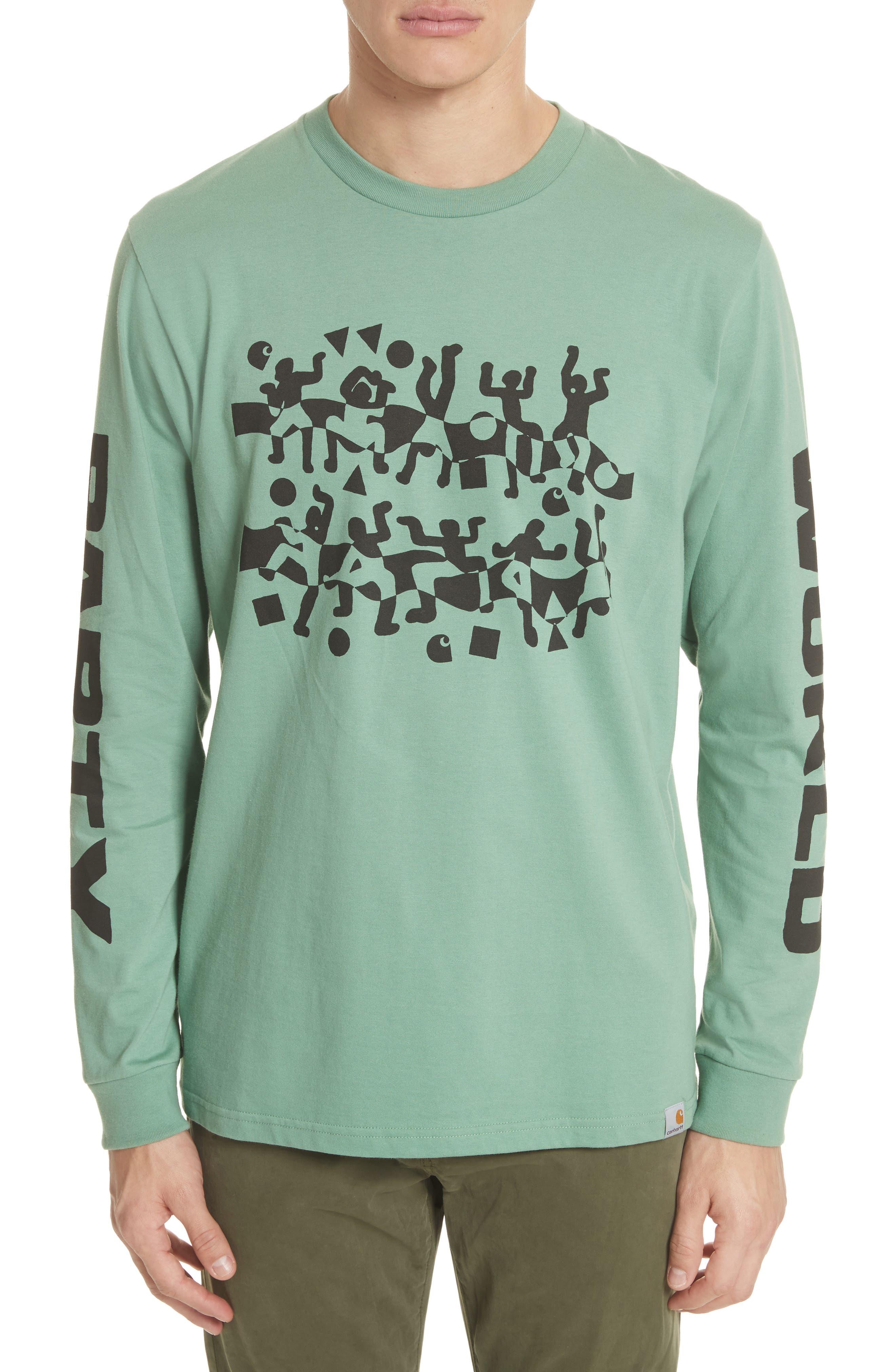 World Party T-Shirt,                             Main thumbnail 1, color,                             Catnip/Black