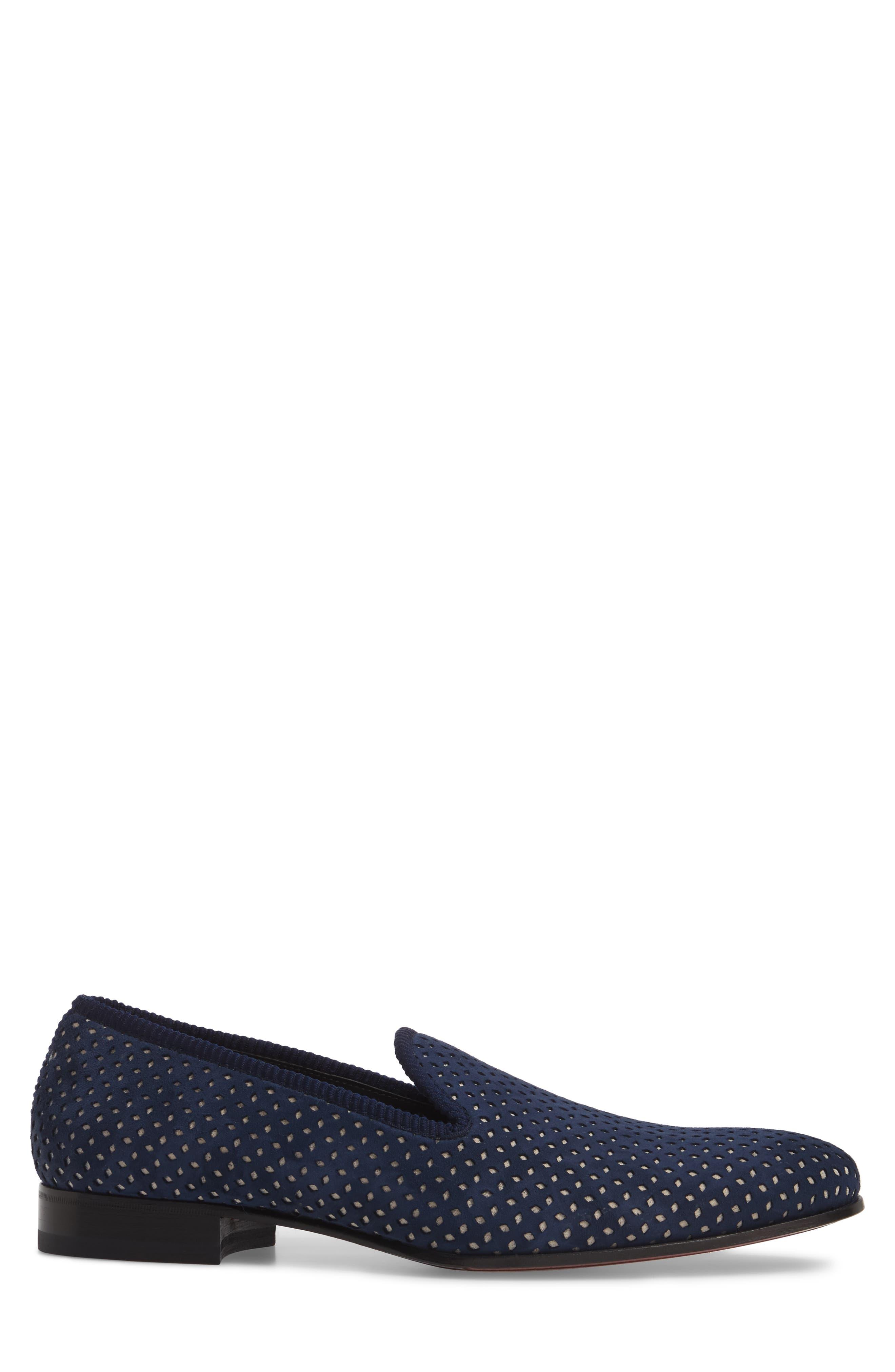 Cibeles Venetian Loafer,                             Alternate thumbnail 3, color,                             Blue/ Bone Suede