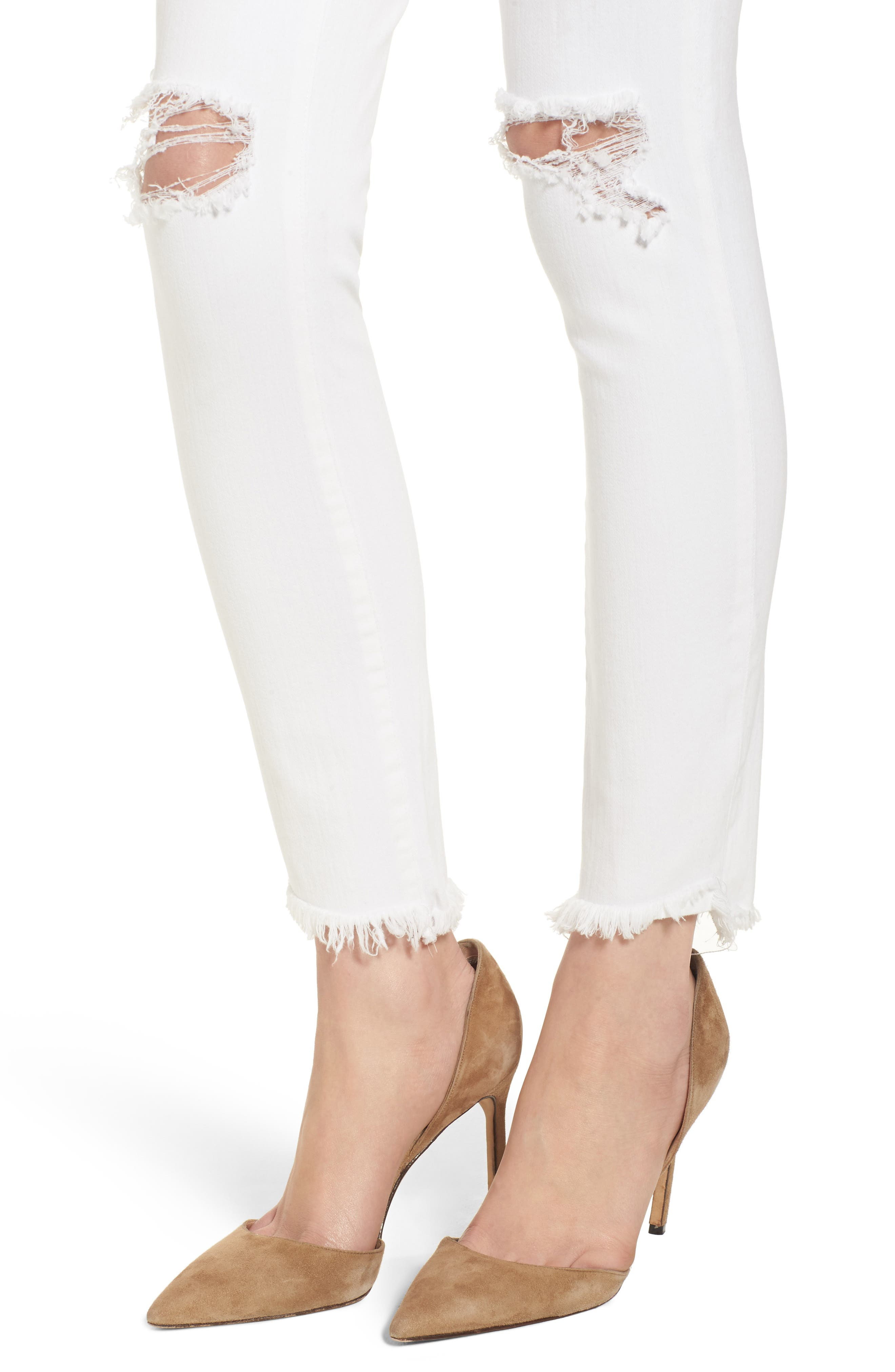 Margaux Instasculpt Ankle Skinny Jeans,                             Alternate thumbnail 4, color,                             Newport