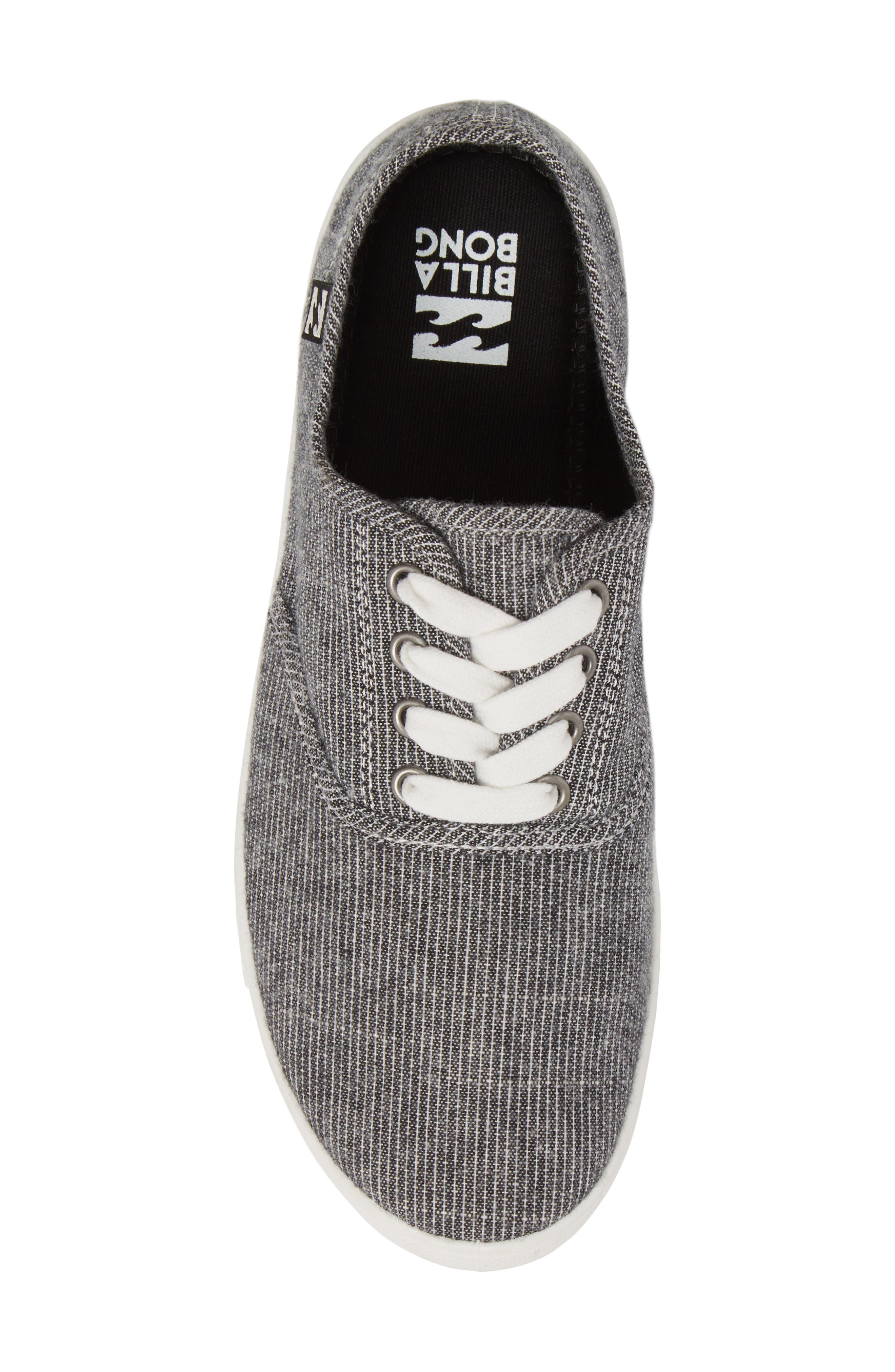 Addy Sneaker,                             Alternate thumbnail 5, color,                             Black/ White
