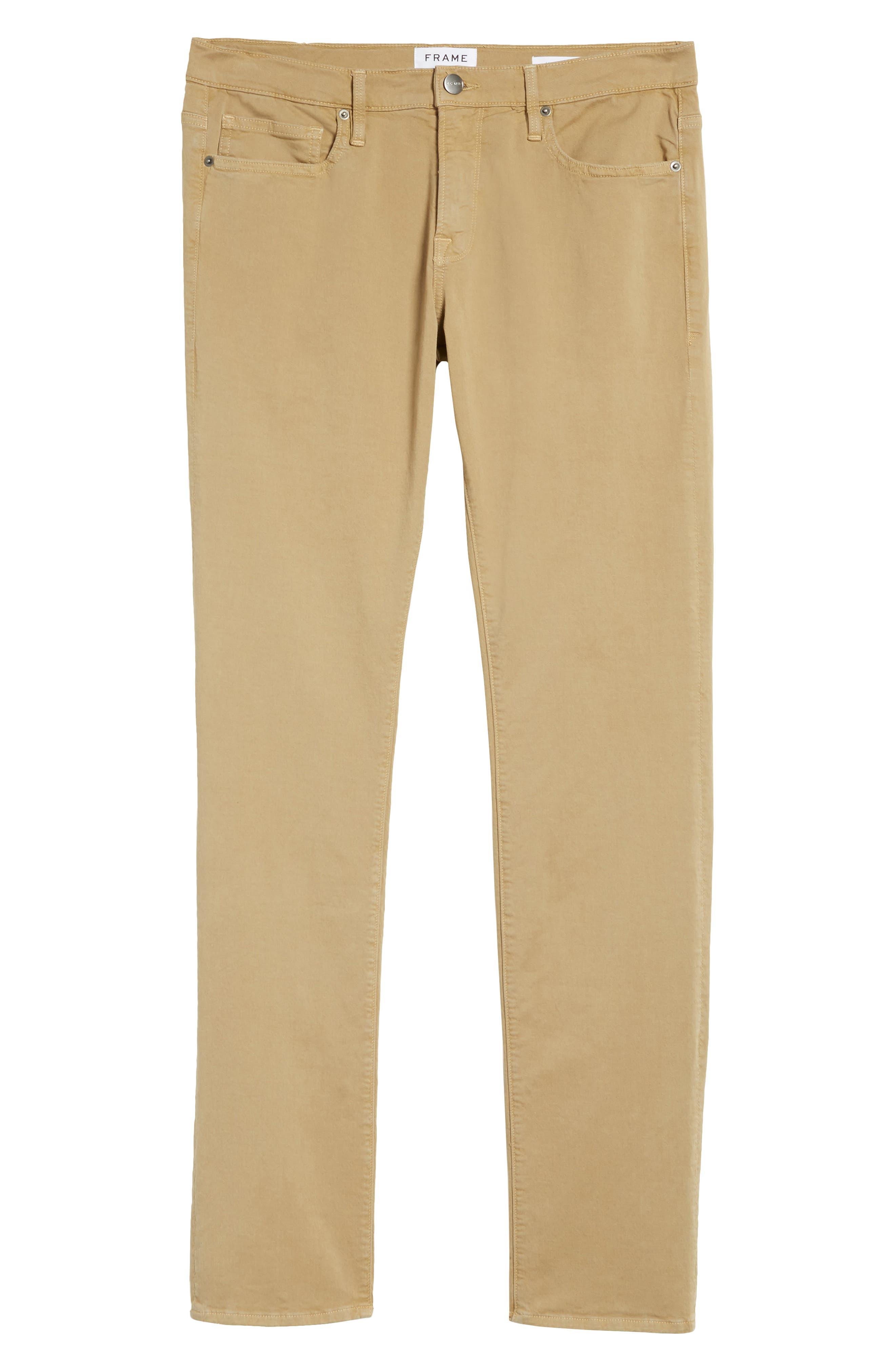 Homme Slim Fit Chino Pants,                             Alternate thumbnail 6, color,                             Khaki