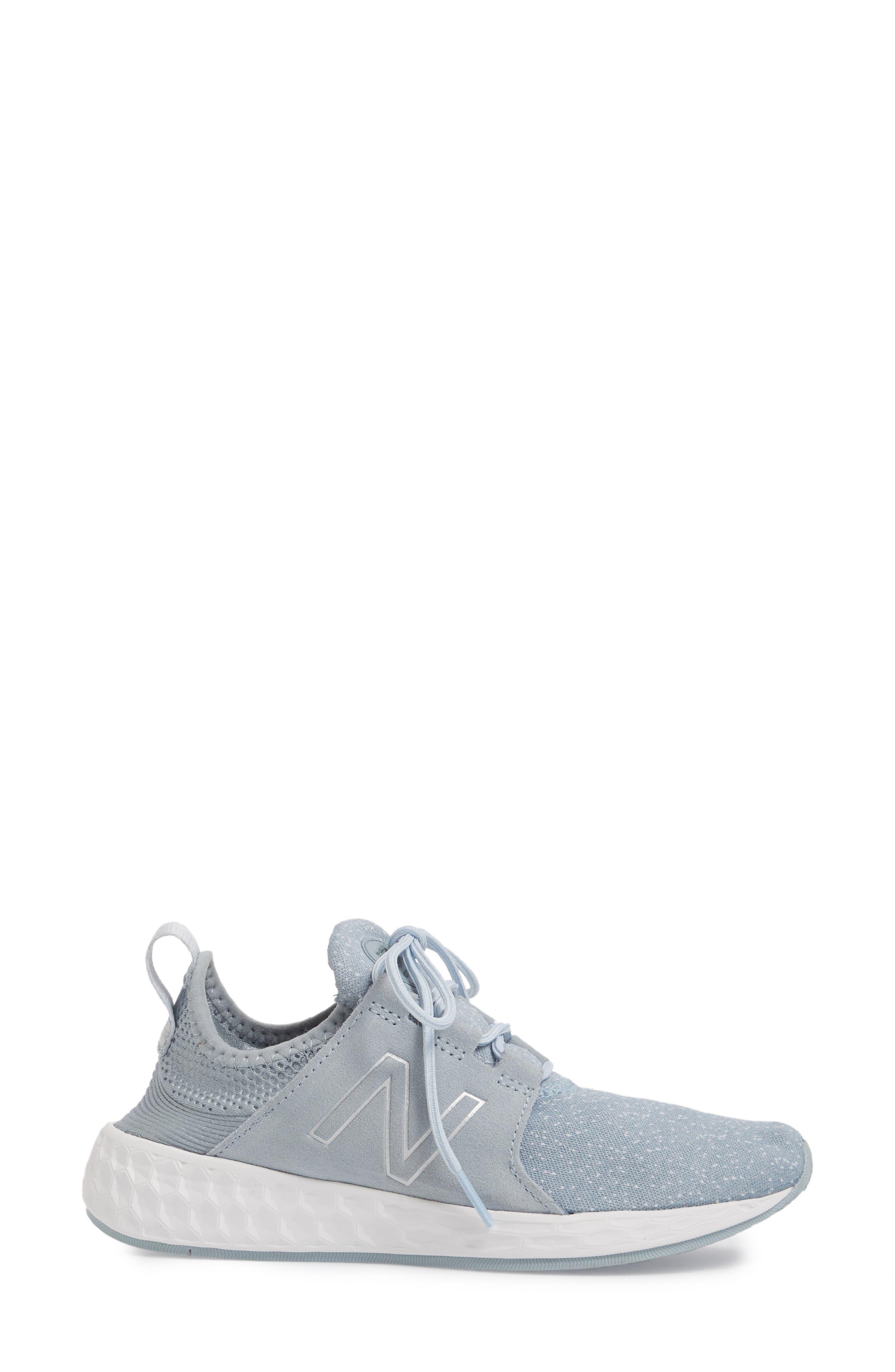 Fresh Foam Cruz Running Shoe,                             Alternate thumbnail 3, color,                             Light Slate