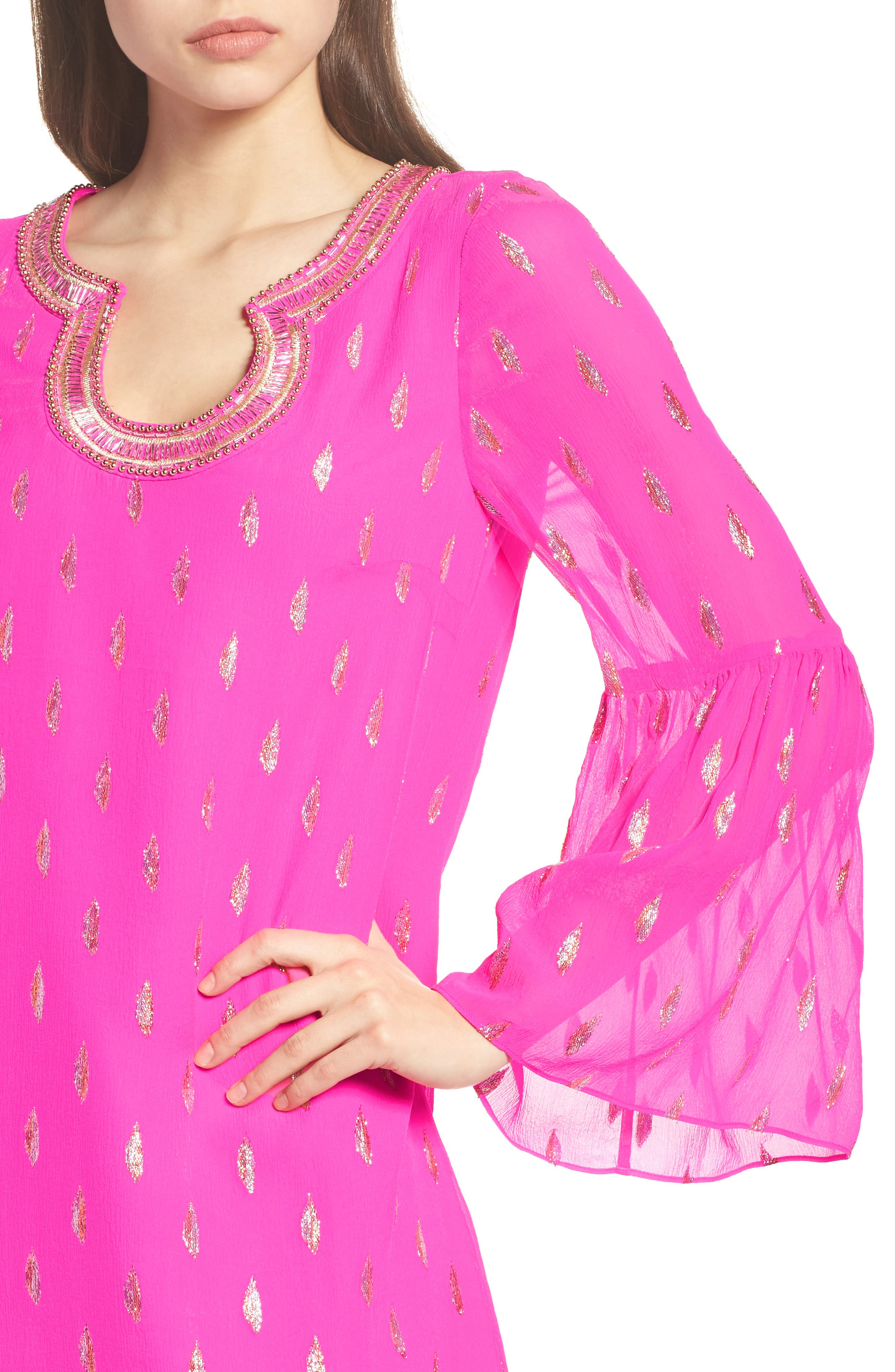 Alternate Image 4  - Lilly Pulitzer® Amory Silk Tunic Dress