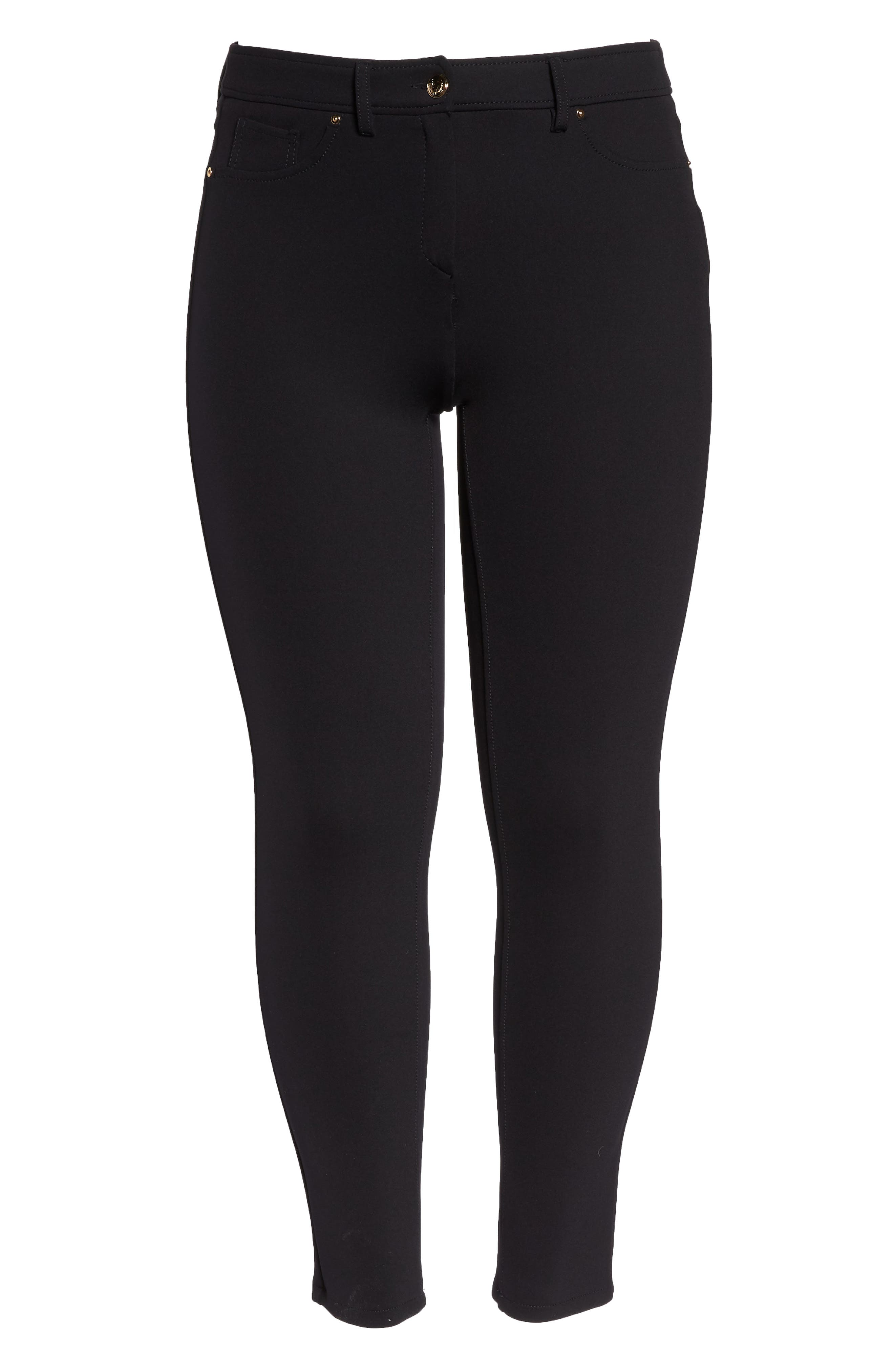 Odalisca Jersey Pants,                             Alternate thumbnail 6, color,                             Black