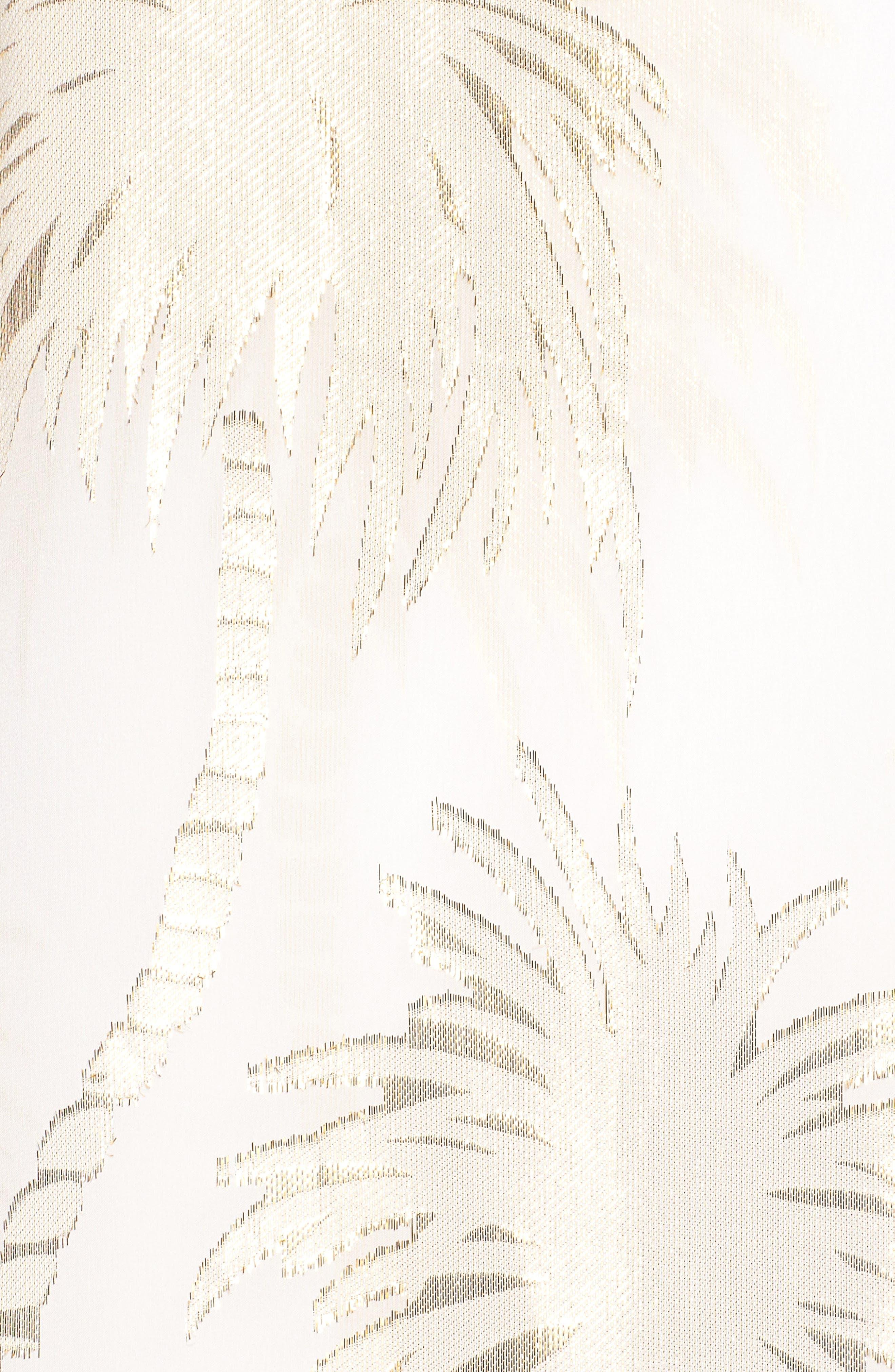 Calissa Silk Dress,                             Alternate thumbnail 5, color,                             Resort White Palm Tree Clip