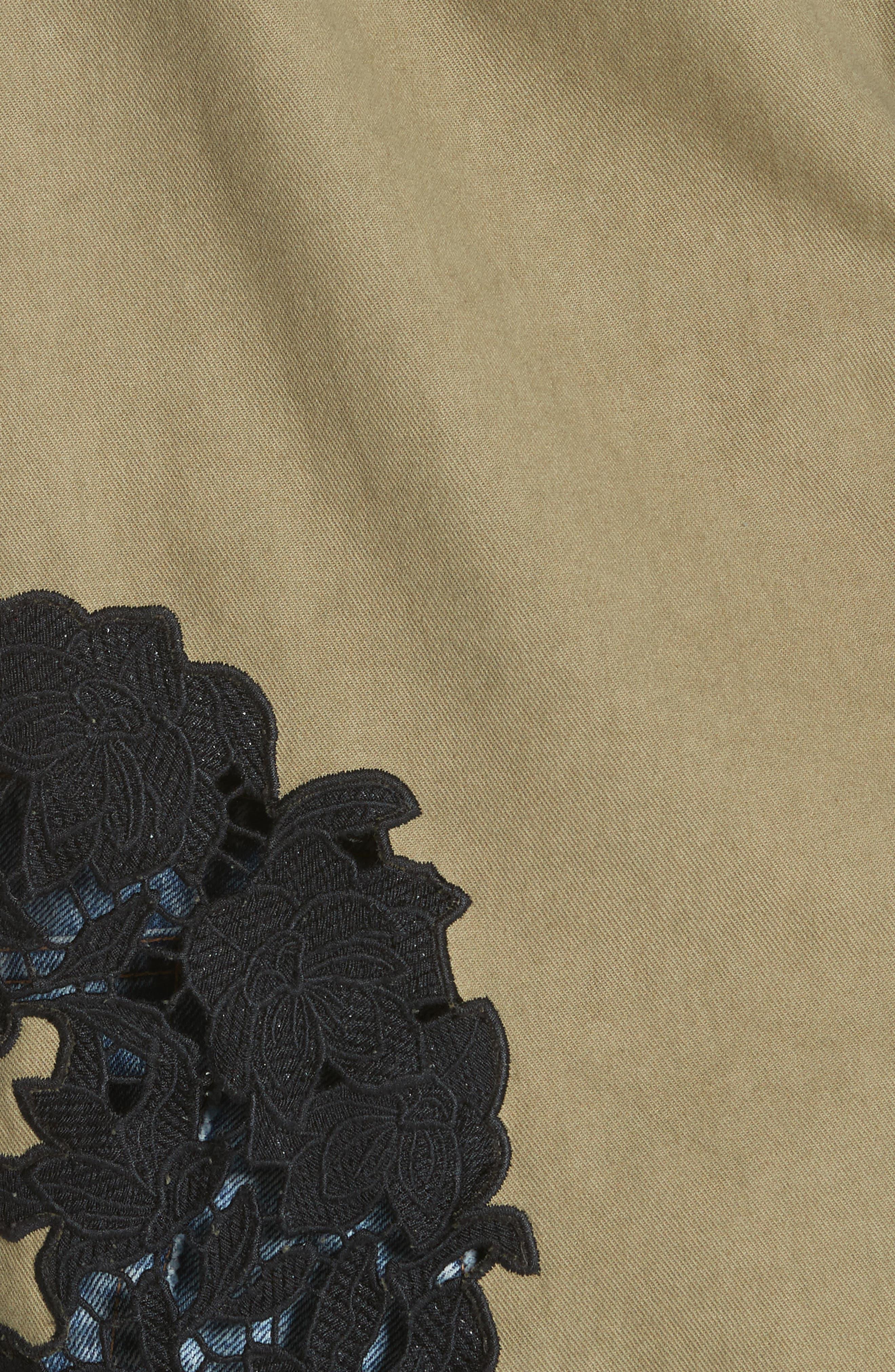 Meta Embroidered Utility Jacket,                             Alternate thumbnail 5, color,                             Olive/ Black