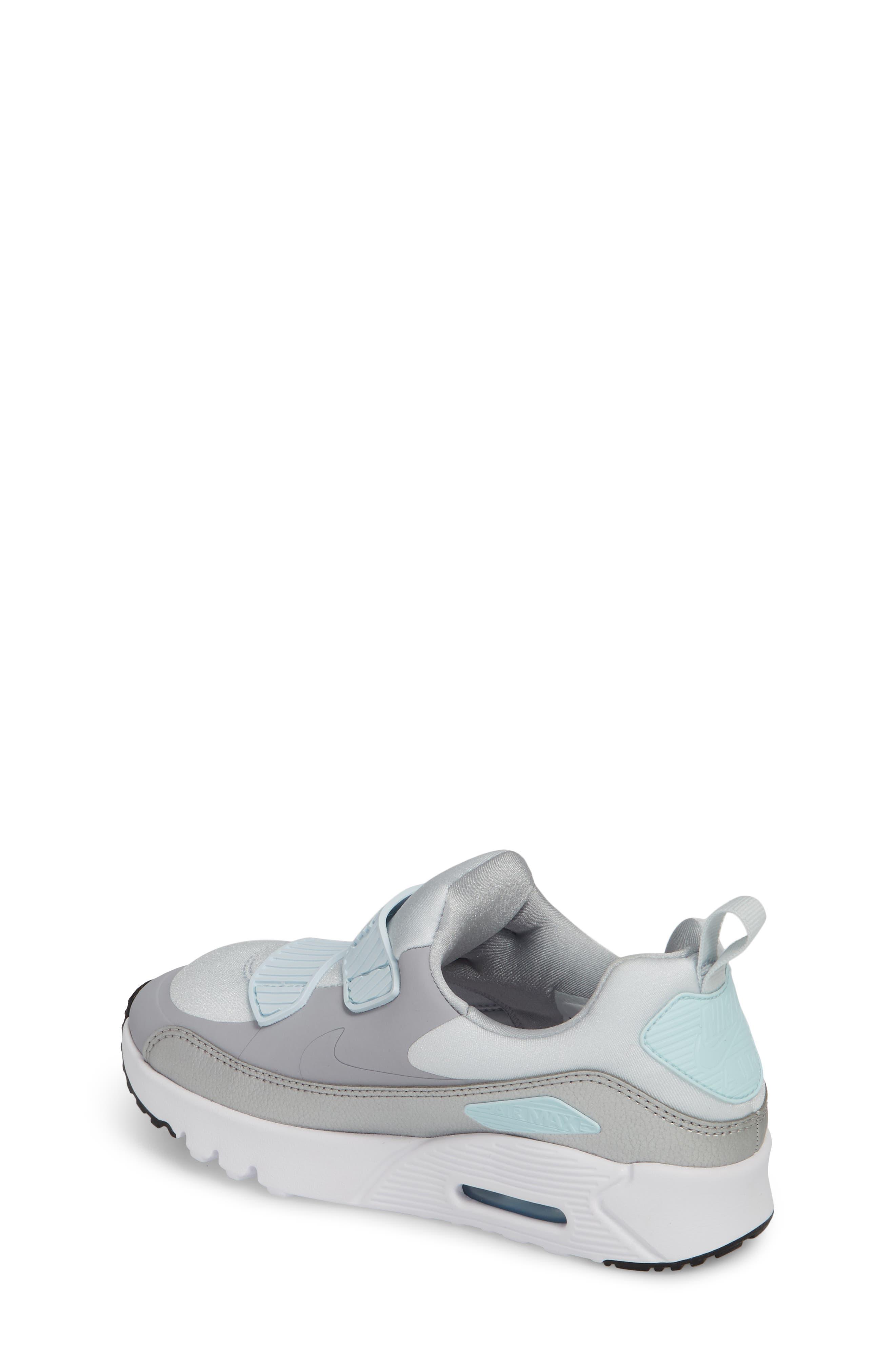 Air Max Tiny 90 Sneaker,                             Alternate thumbnail 2, color,                             Platinum/ Grey/ Silver