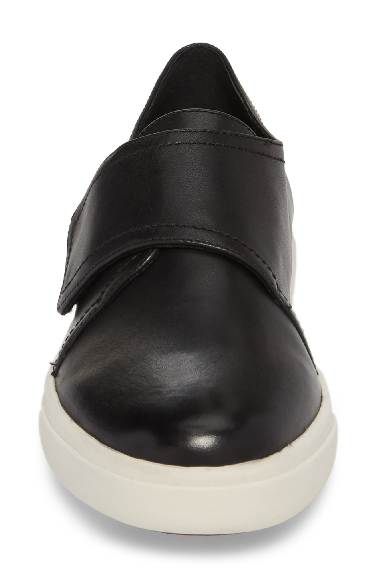 Oberon Slip-On Sneaker,                             Alternate thumbnail 4, color,                             Black Leather