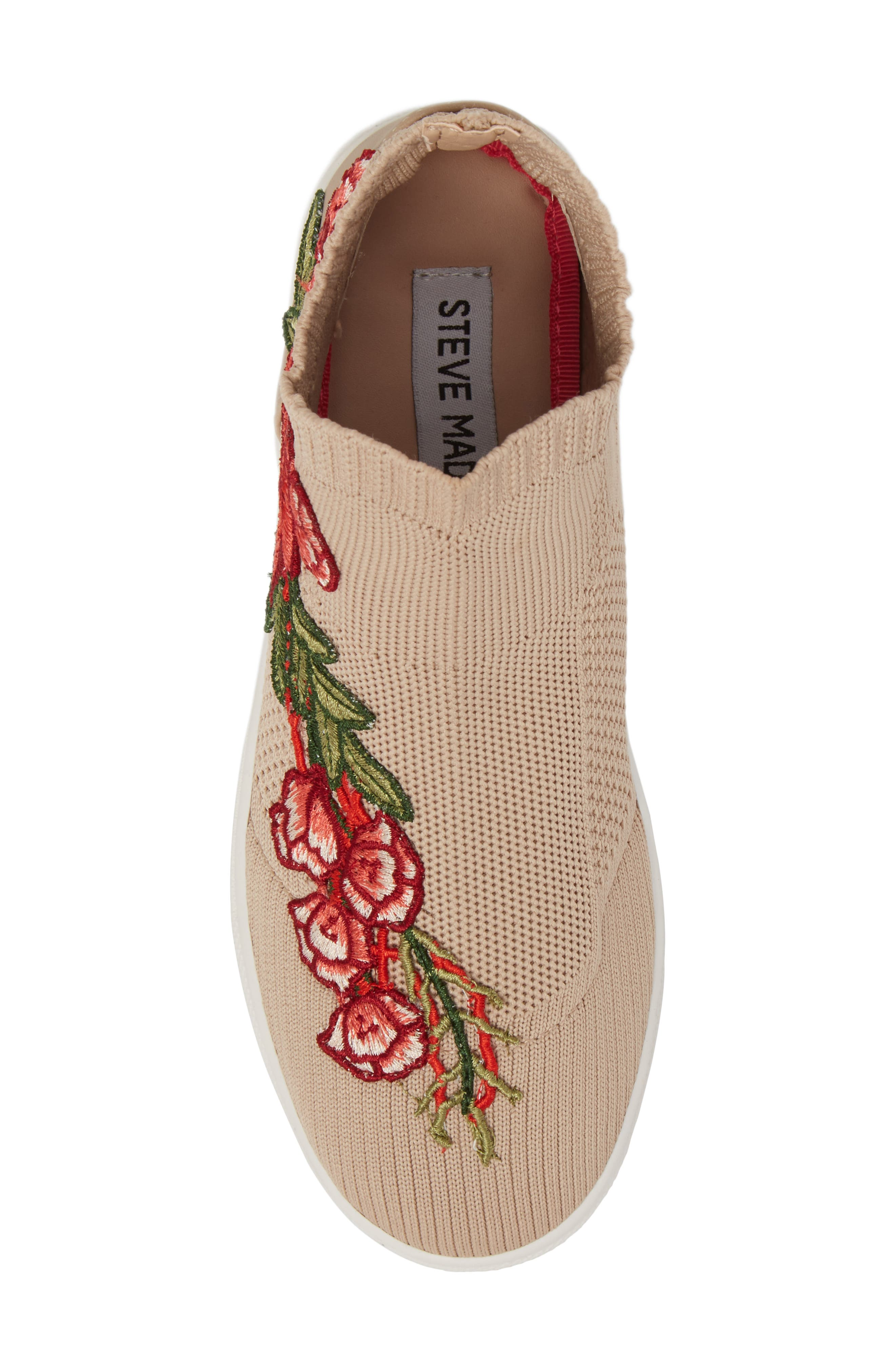 July Embroidered Knit Bootie,                             Alternate thumbnail 5, color,                             Blush