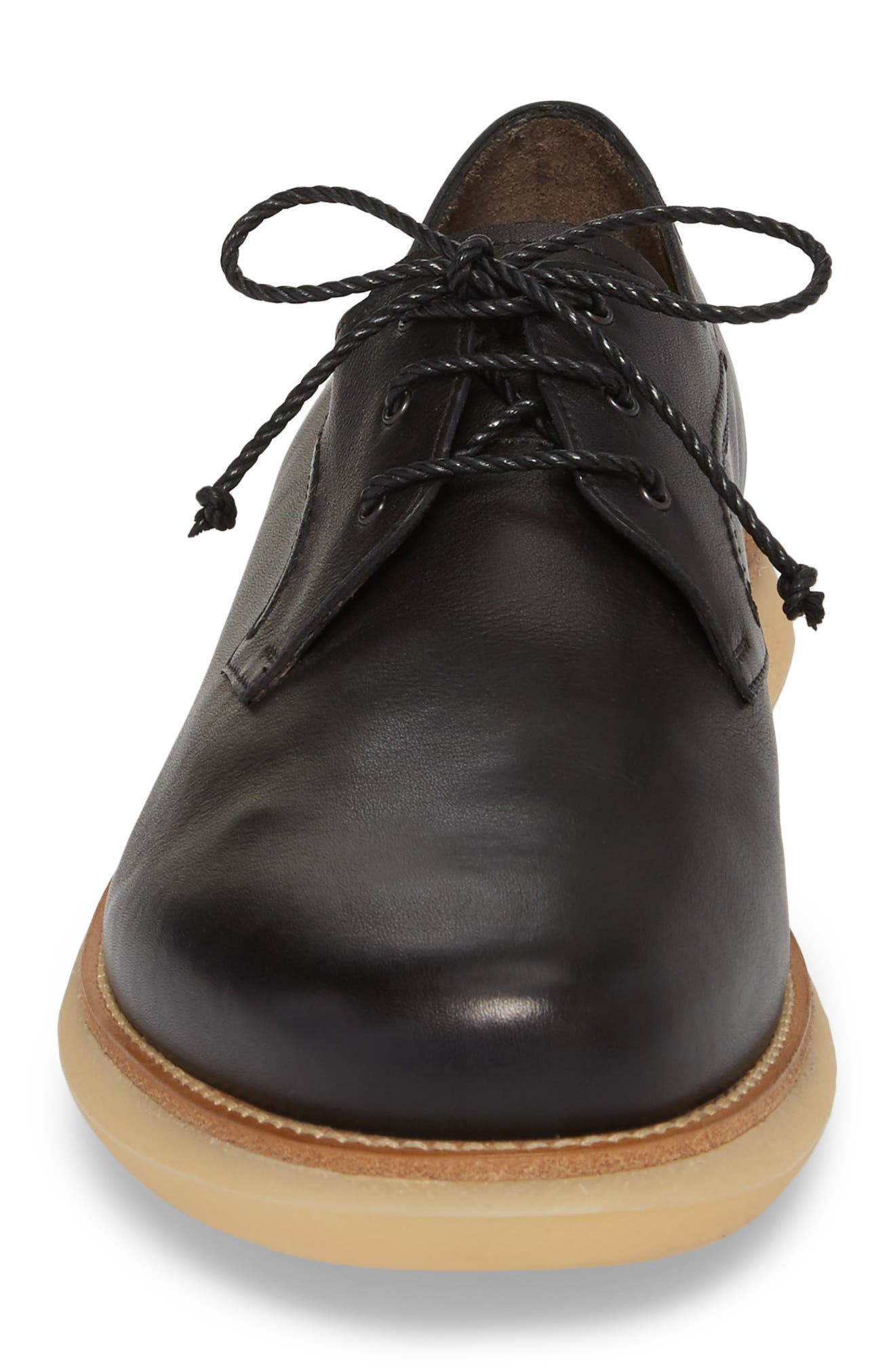 Carter Plain Toe Derby,                             Alternate thumbnail 4, color,                             Nero