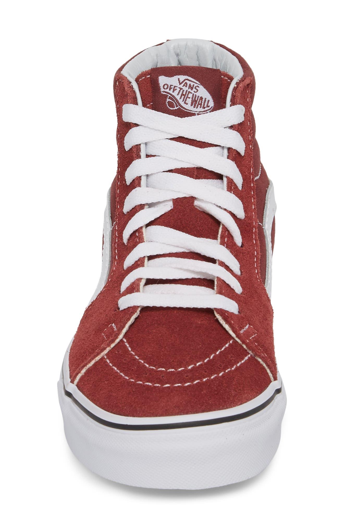 'Sk8-Hi Slim' Sneaker,                             Alternate thumbnail 5, color,                             Apple Butter/ True White