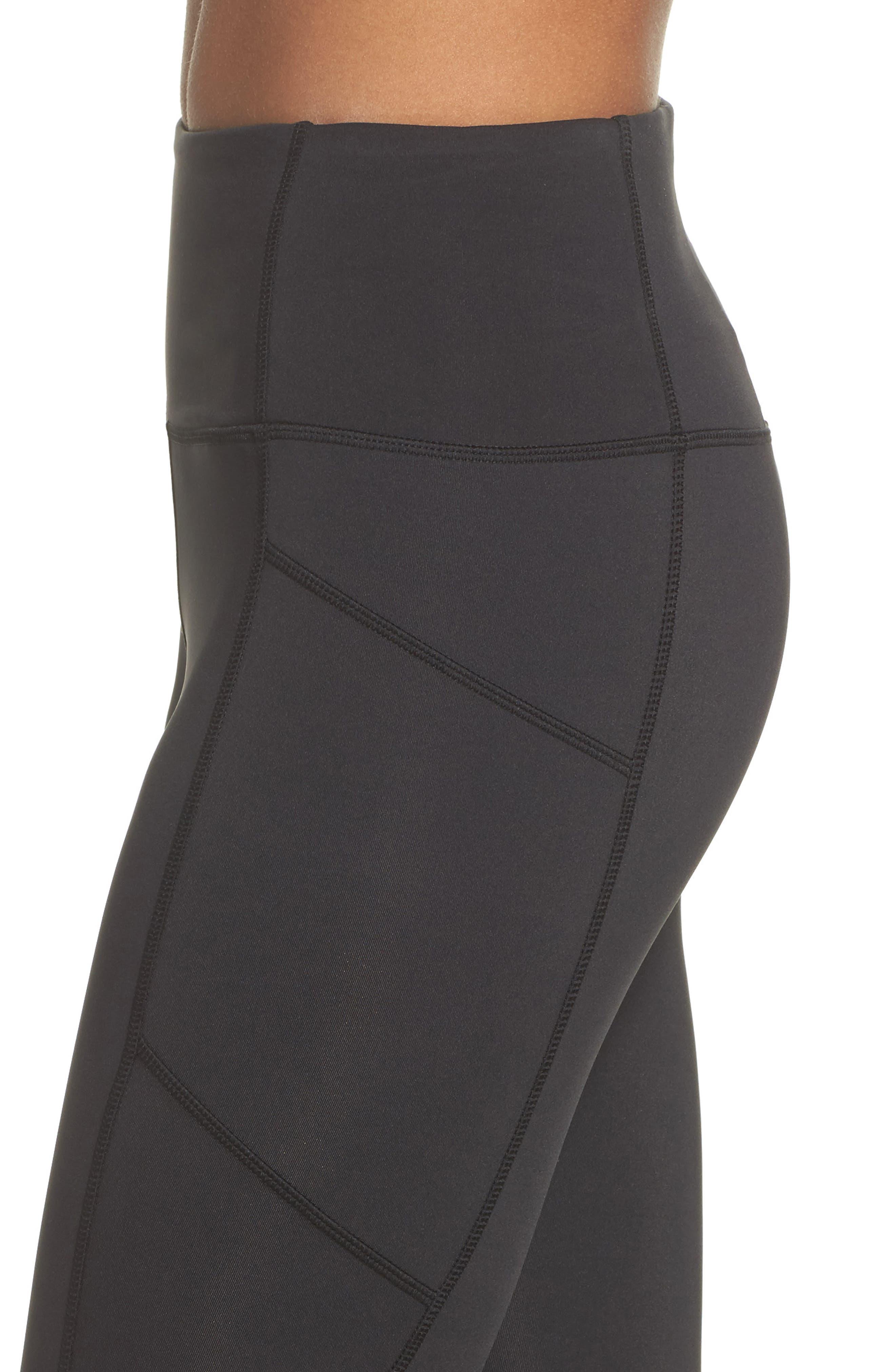 studio leggings,                             Alternate thumbnail 4, color,                             Black