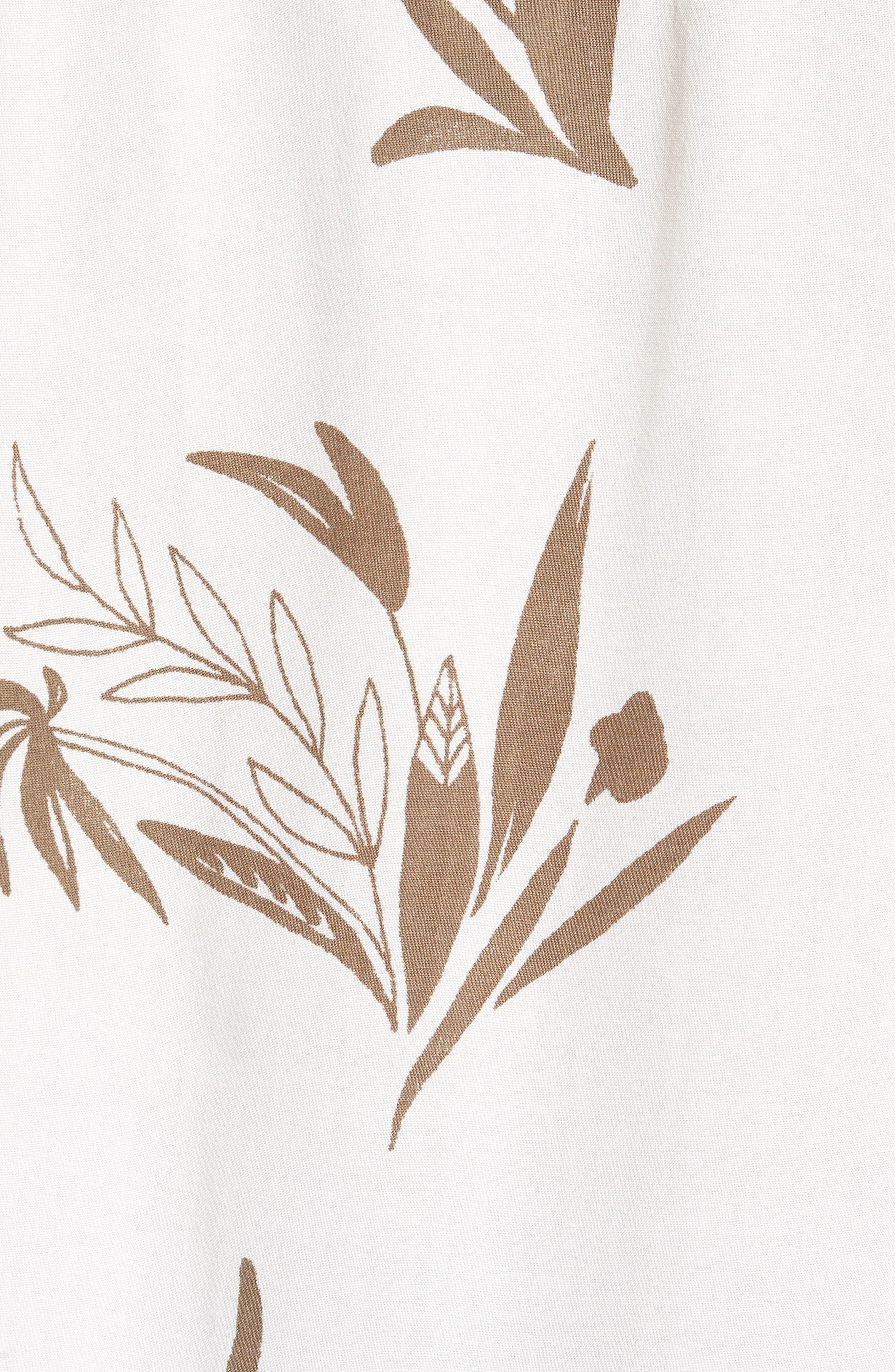 Simmer Short Sleeve Shirt,                             Alternate thumbnail 5, color,                             Vintage White