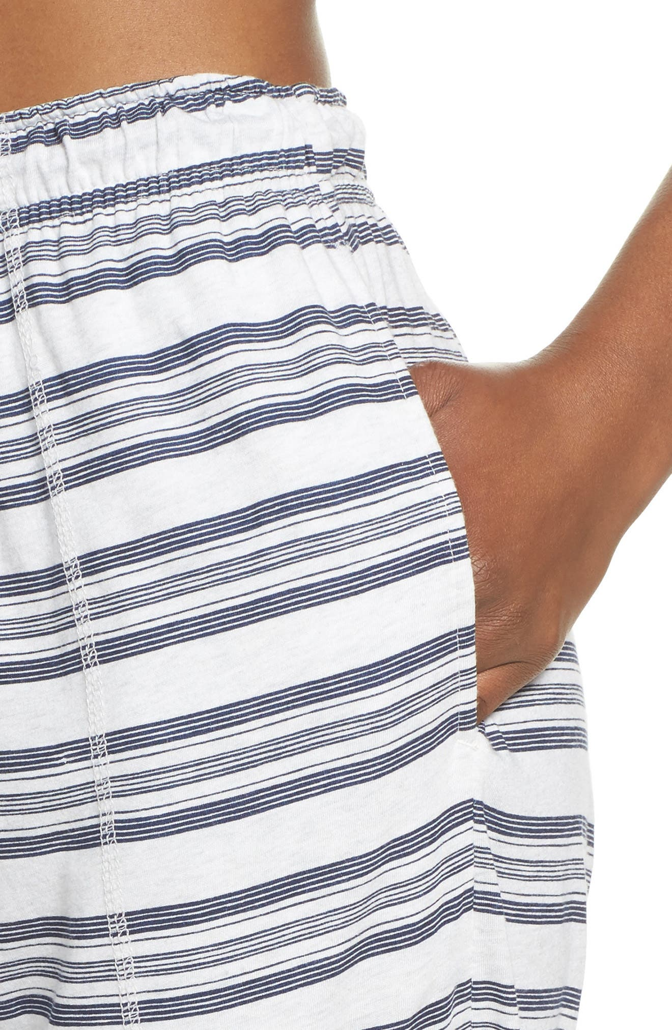 Alice Lounge Pants,                             Alternate thumbnail 6, color,                             Snow Marle Stripe