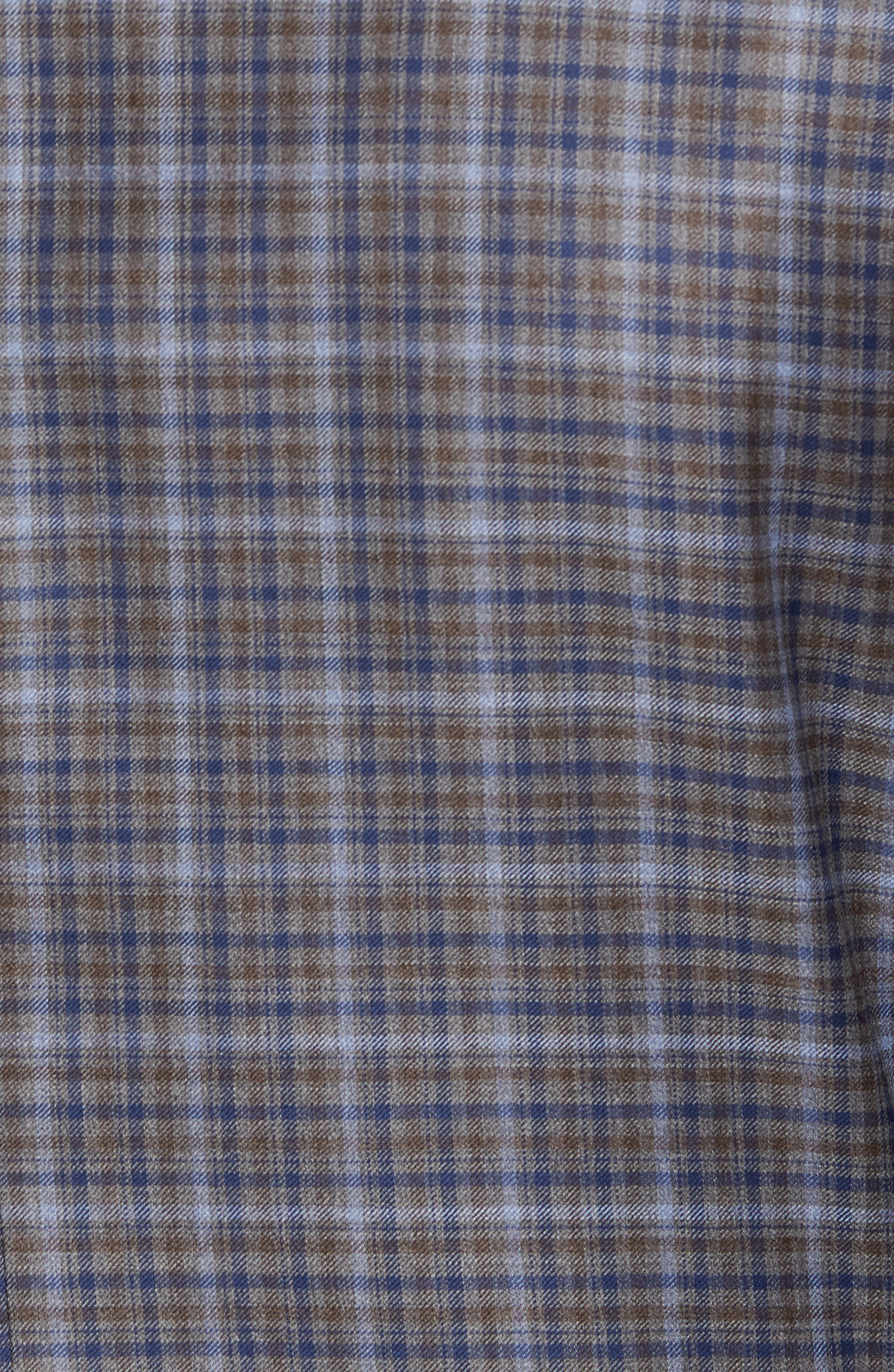 Classic Fit Plaid Wool Sport Coat,                             Alternate thumbnail 5, color,                             Tan