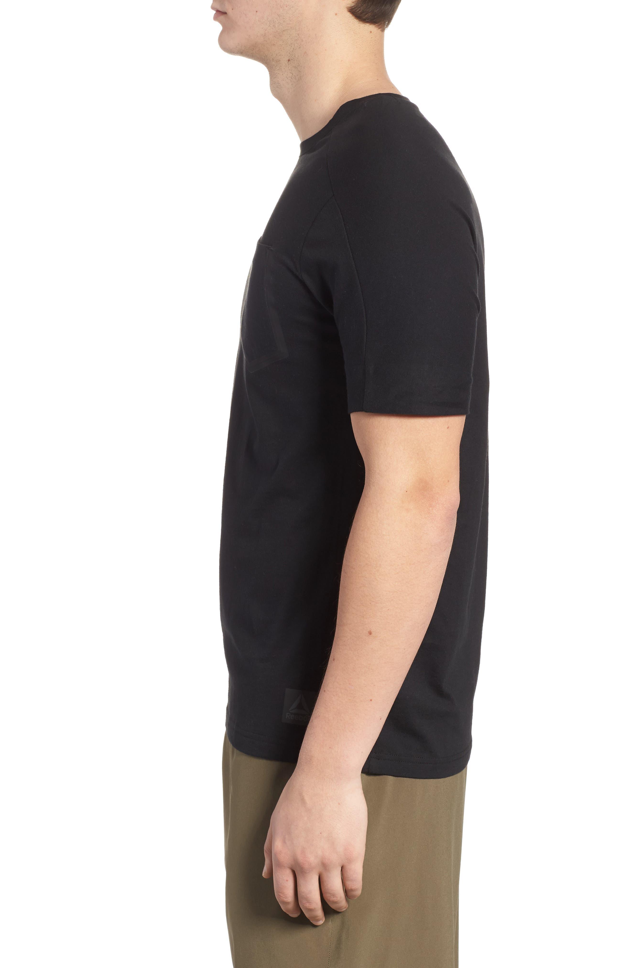 Training Supply Move Crewneck T-Shirt,                             Alternate thumbnail 3, color,                             Black