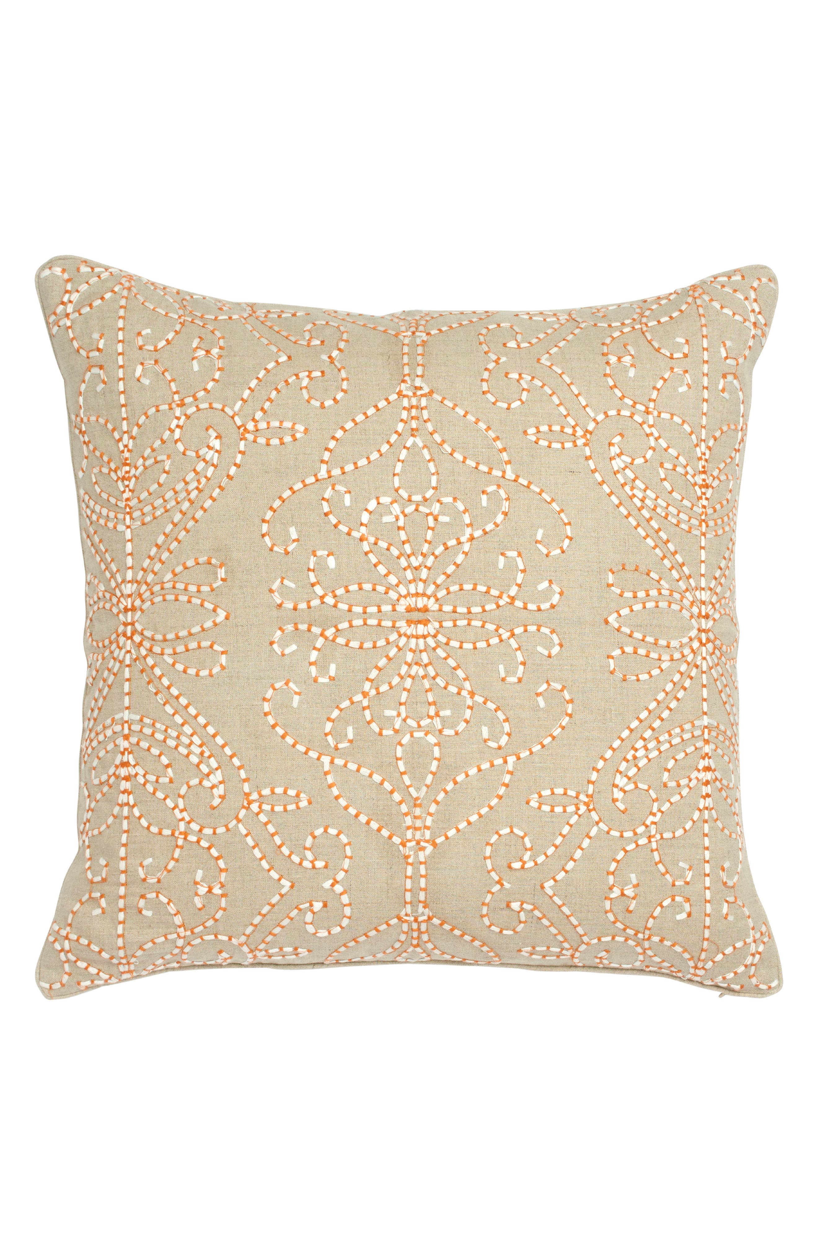 Amazilia Embroidered Accent Pillow,                             Main thumbnail 1, color,                             Taupe